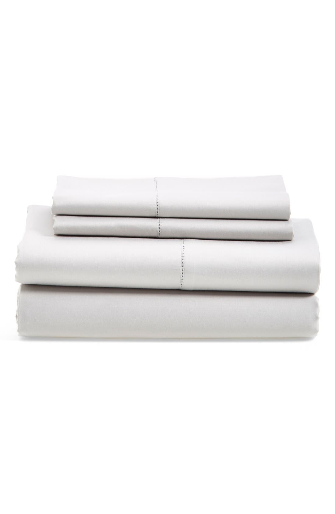 600 Thread Count Egyptian Cotton Single Sheets,                         Main,                         color, GREY VAPOR