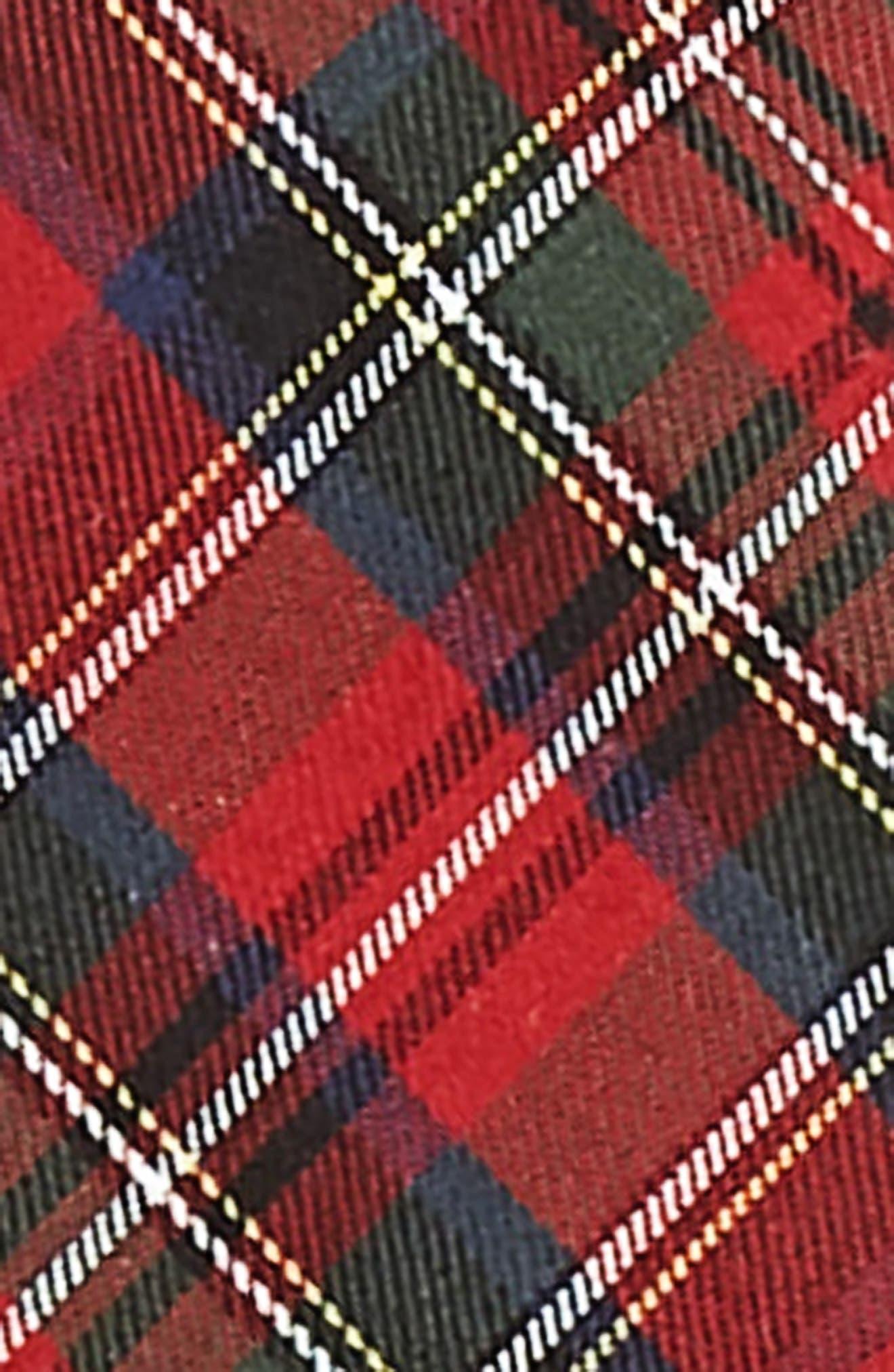 Nordstrom Men's Short Tartan Plaid Suspenders,                             Alternate thumbnail 2, color,                             RED/ BLACK