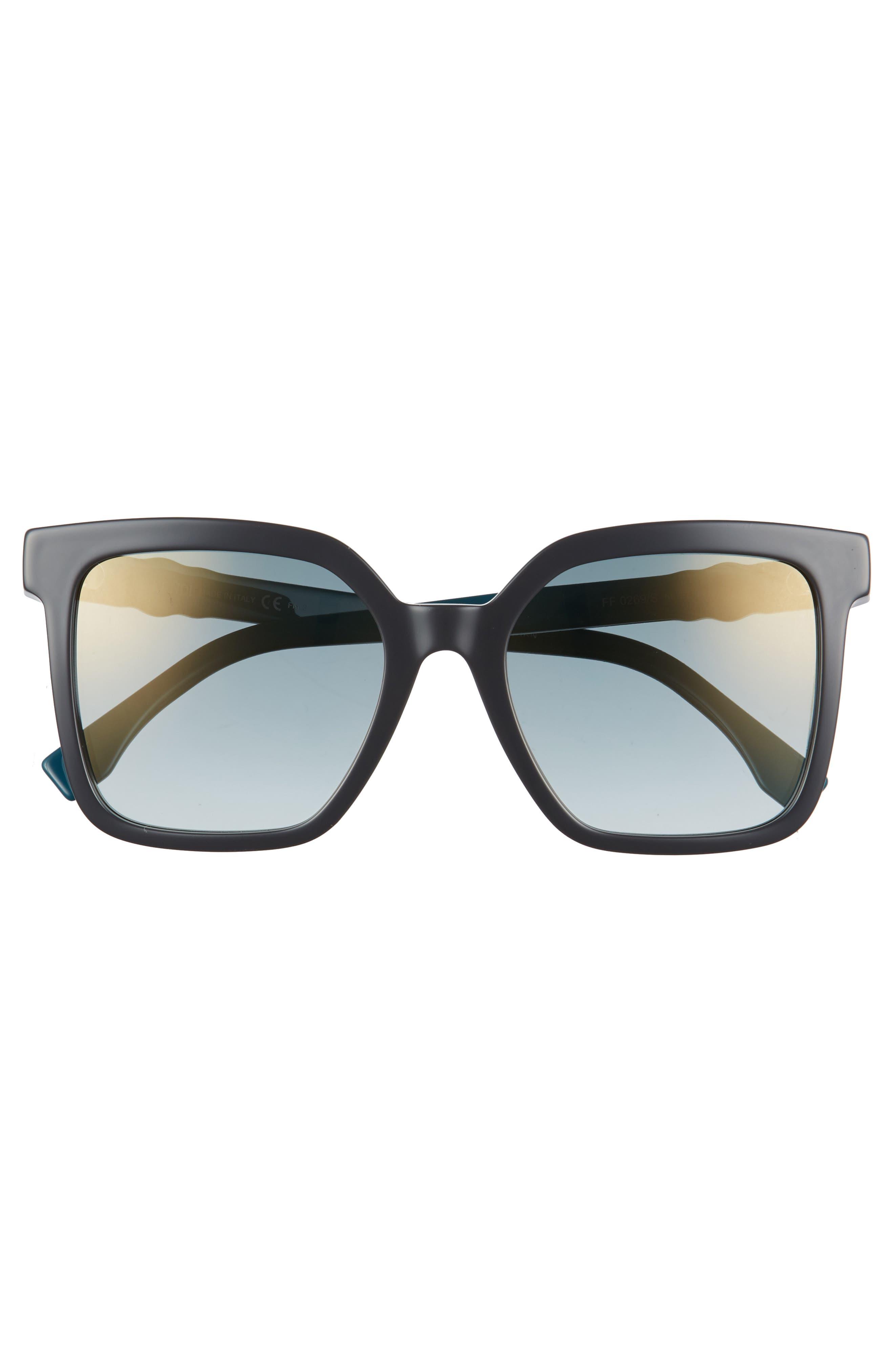 54mm Square Sunglasses,                             Alternate thumbnail 3, color,                             GREY