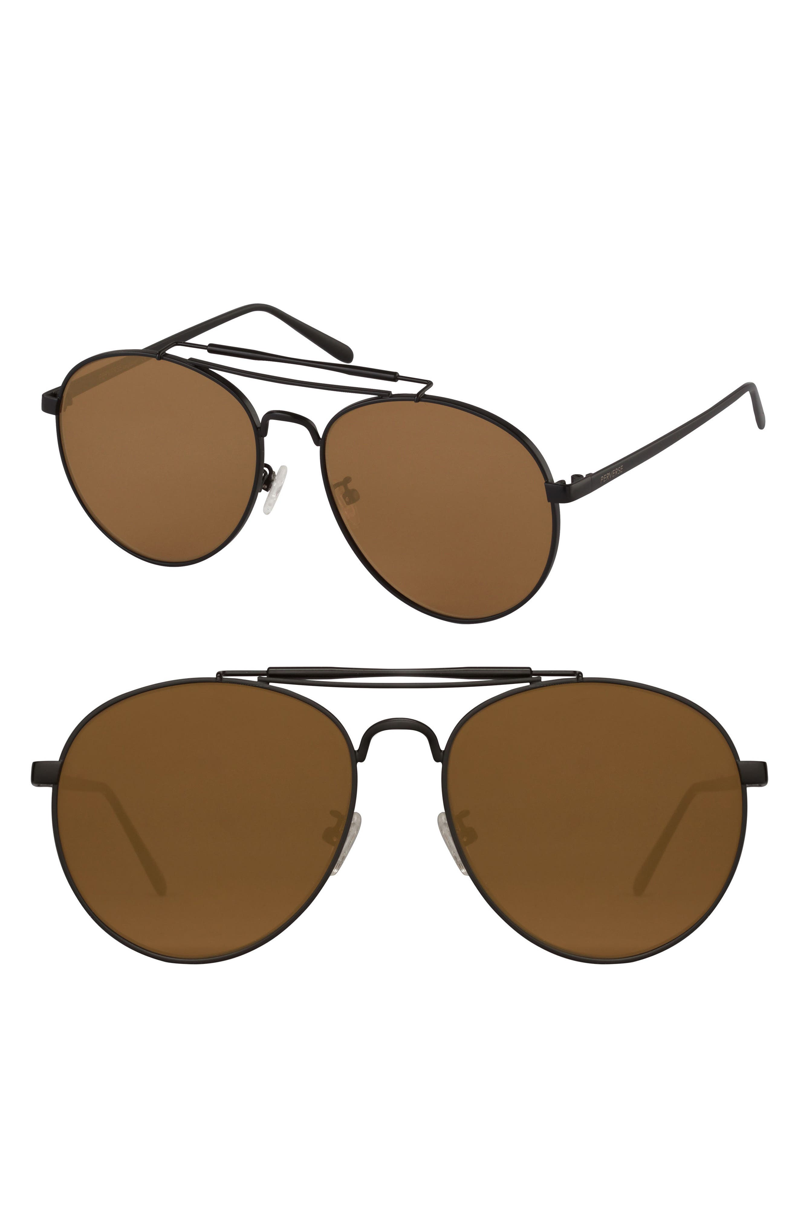 50mm Aviator Sunglasses,                             Main thumbnail 1, color,                             001