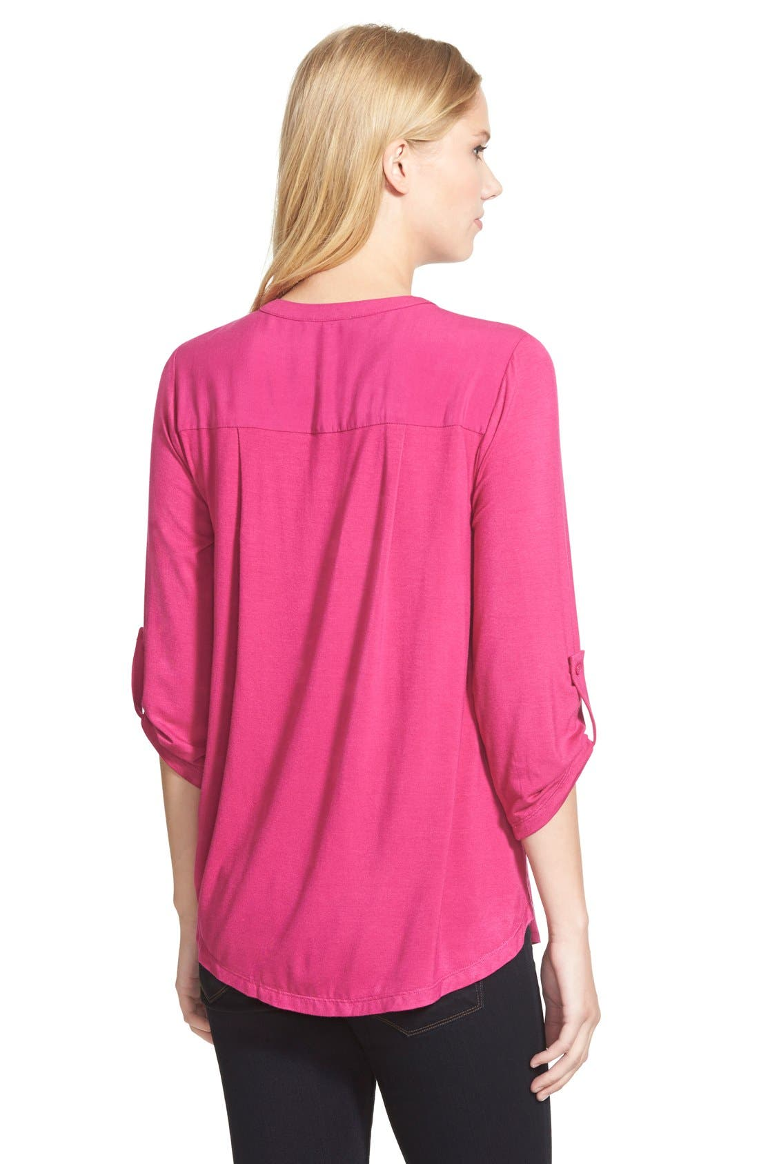 Mixed Media V-Neck Tunic,                             Alternate thumbnail 171, color,