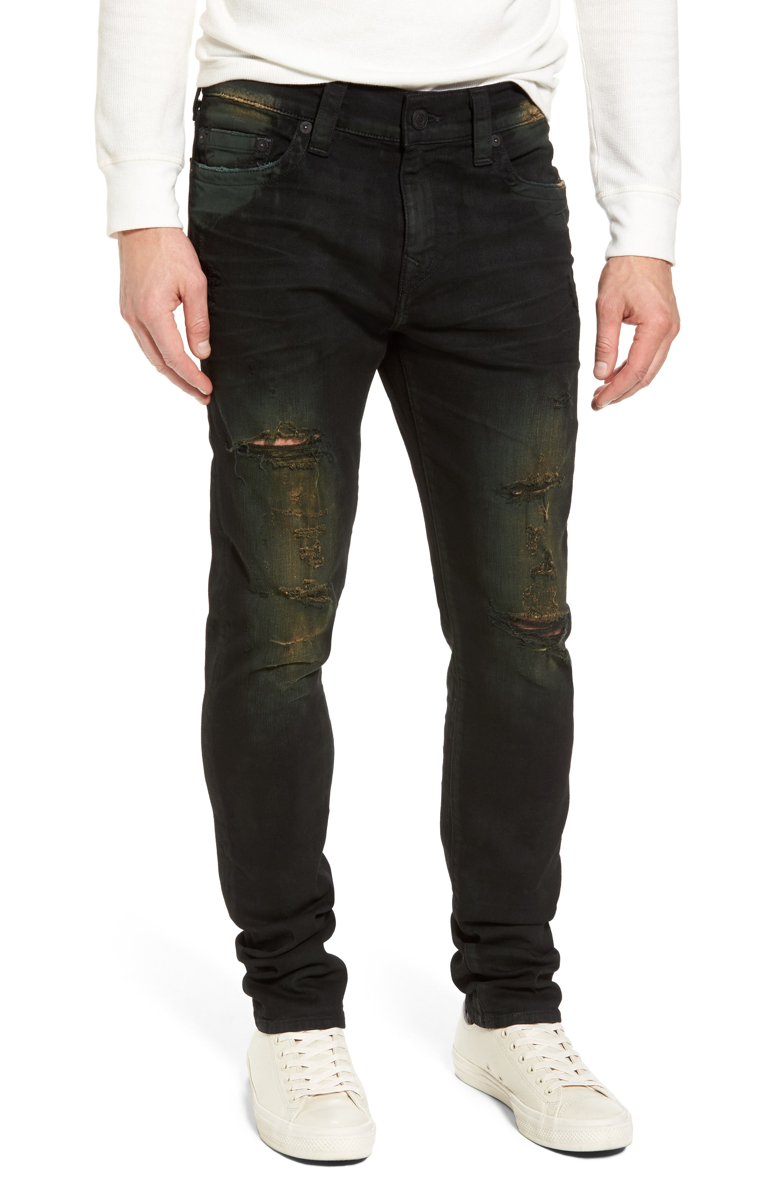 Rocco Skinny Fit Jeans,                         Main,                         color, GREEN BLAZE