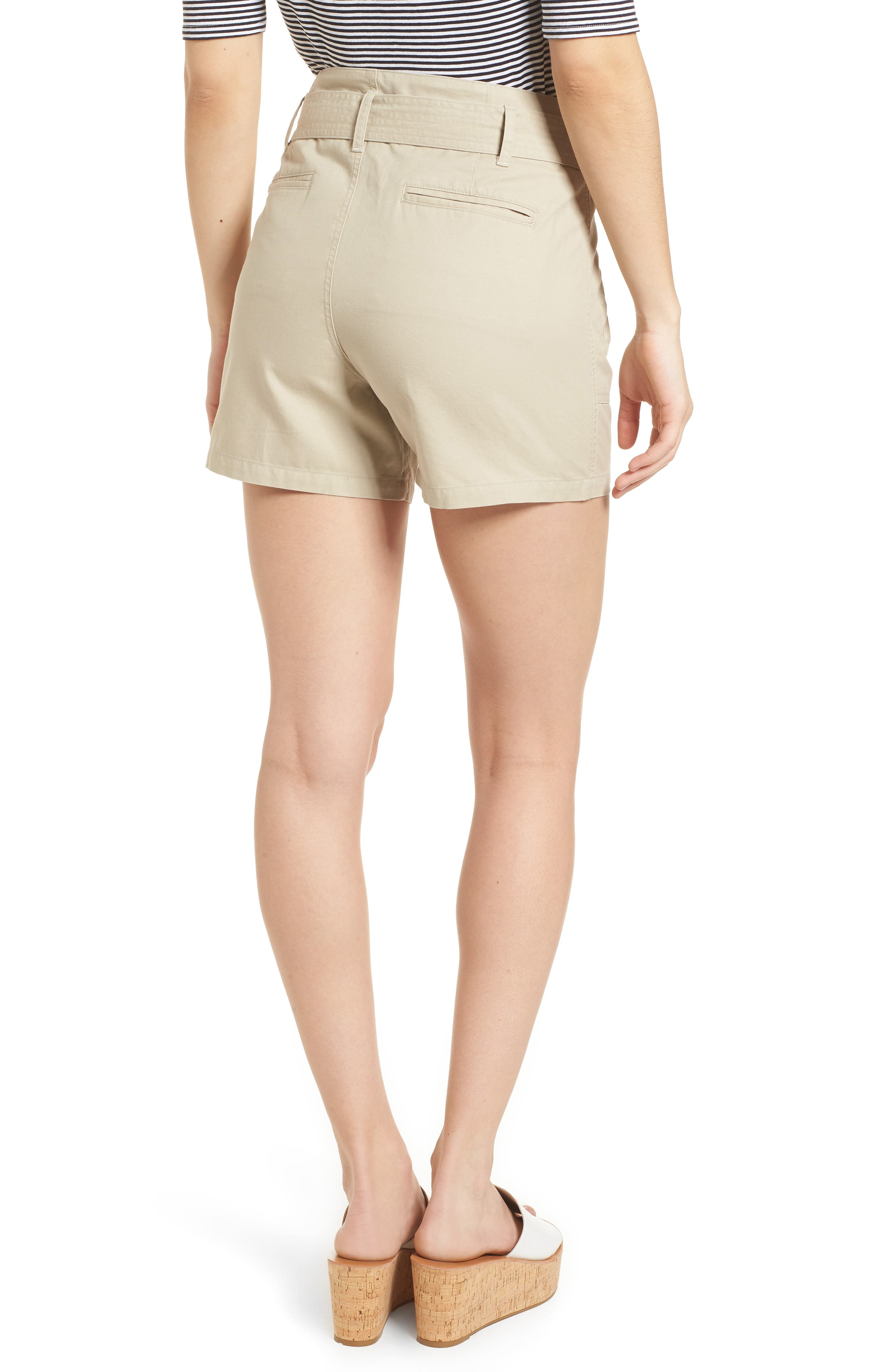 Belted Twill Shorts,                             Alternate thumbnail 6, color,