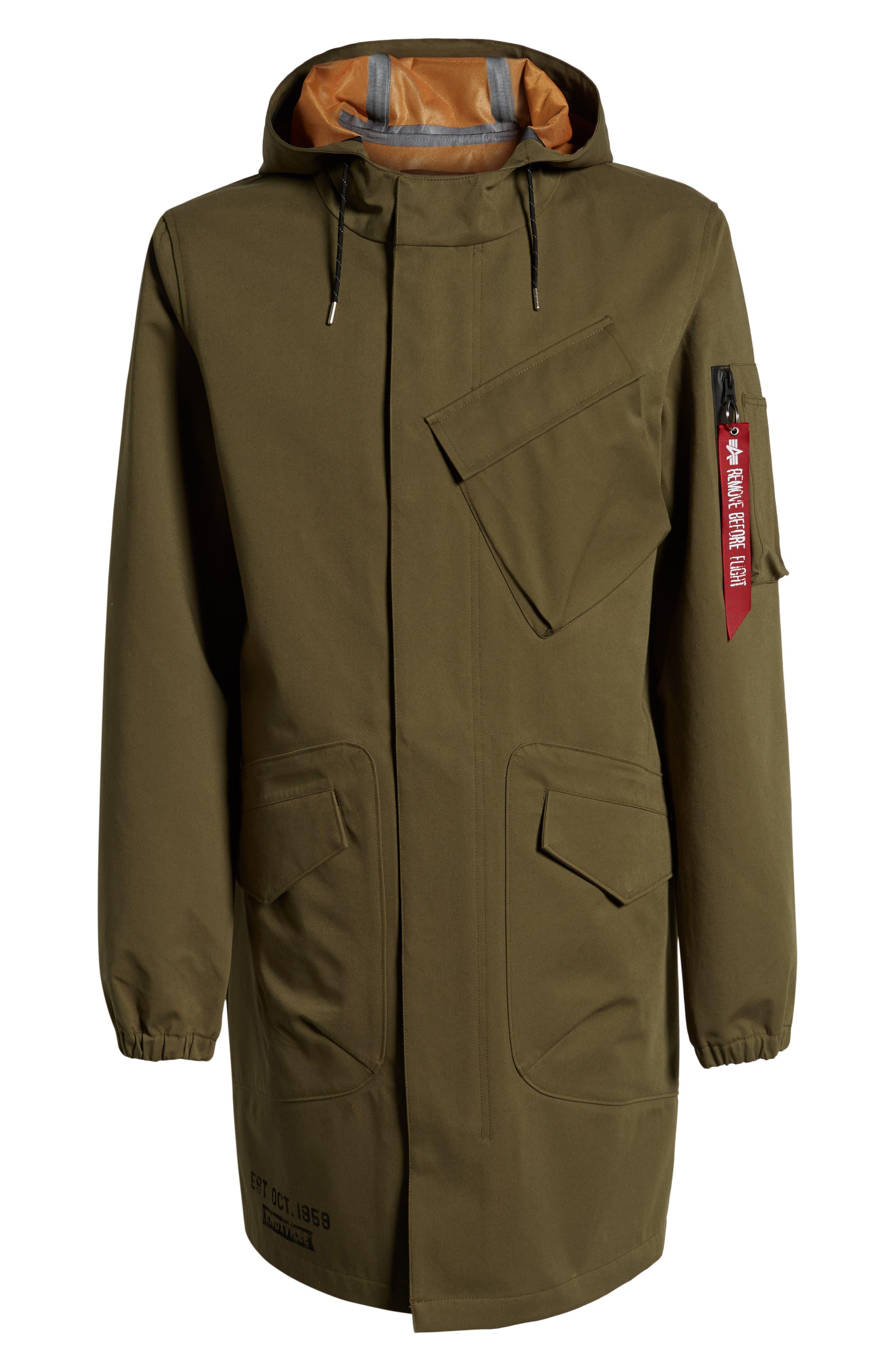 Duster Waterproof Field Coat,                             Alternate thumbnail 6, color,                             VINTAGE OLIVE