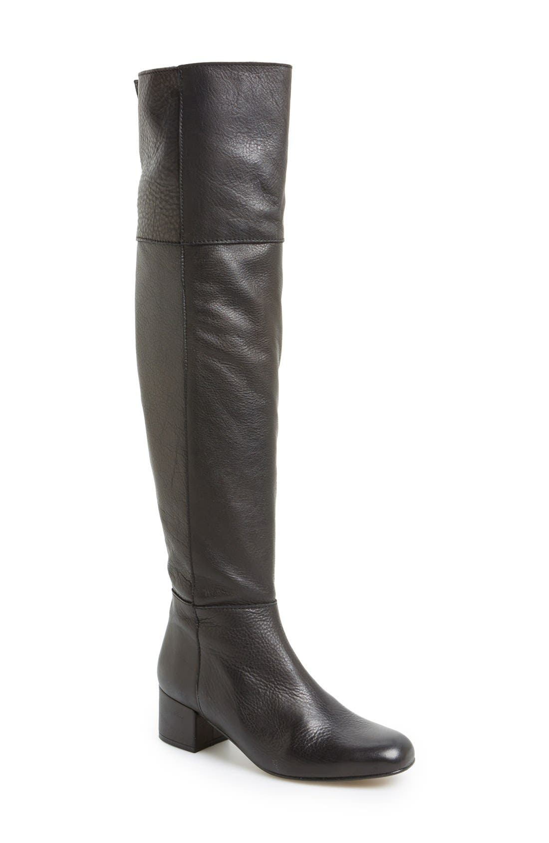 'Canada' Over the Knee Leather Boot,                             Main thumbnail 1, color,                             001