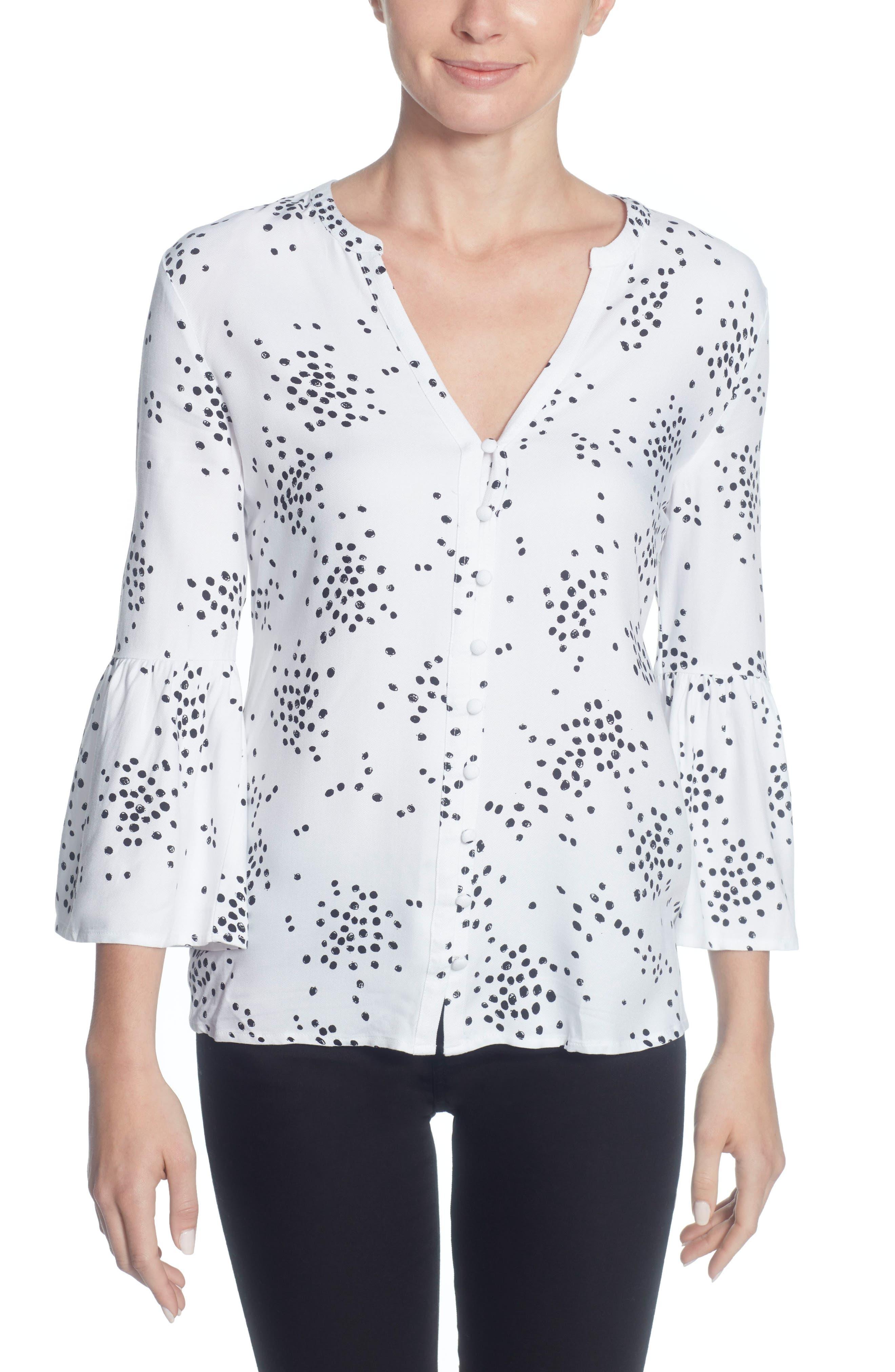 Colette Ruffle Sleeve Blouse,                         Main,                         color, 100