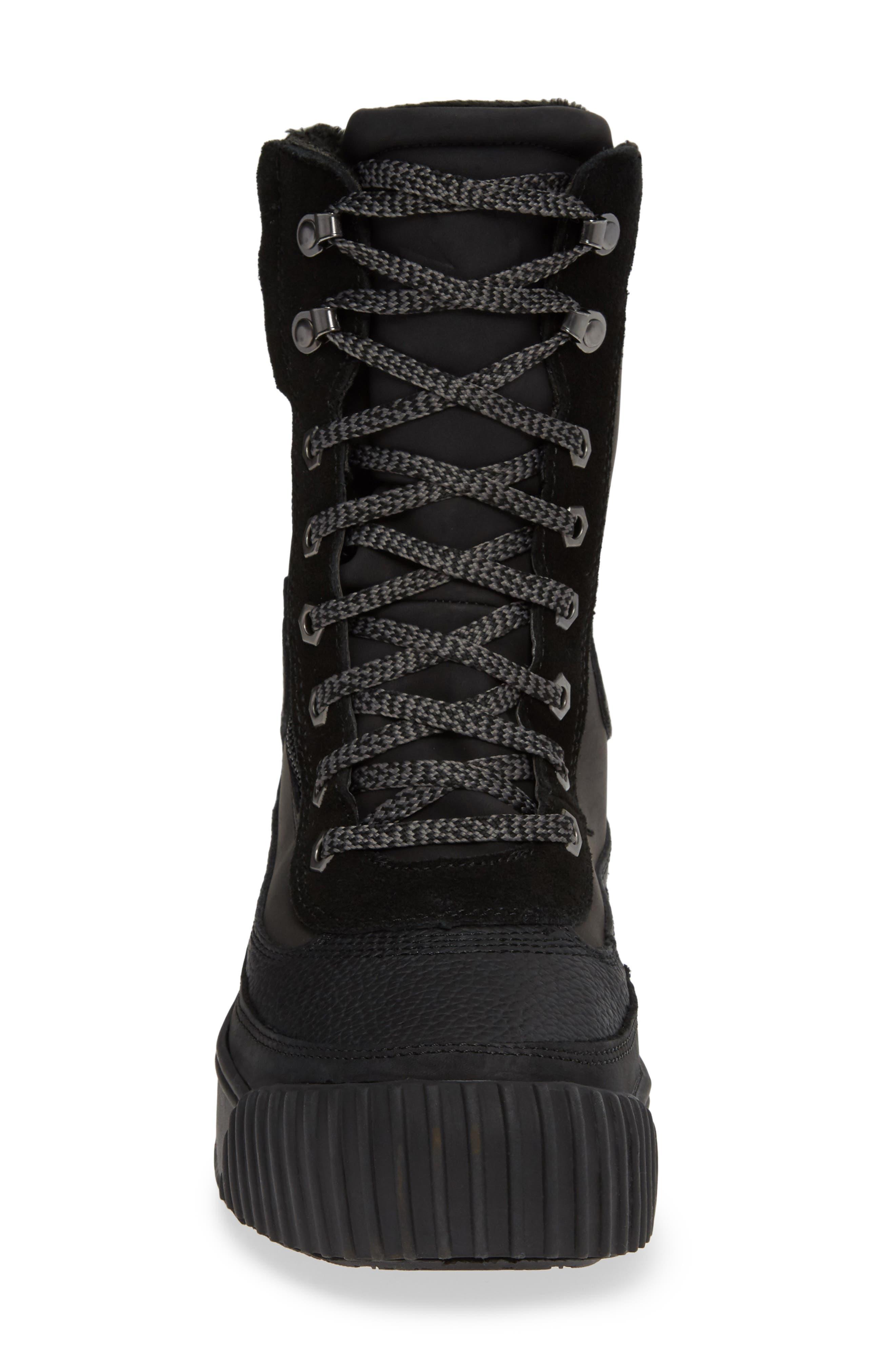 PAJAR,                             Roya Waterproof Sneaker Boot,                             Alternate thumbnail 4, color,                             BLACK