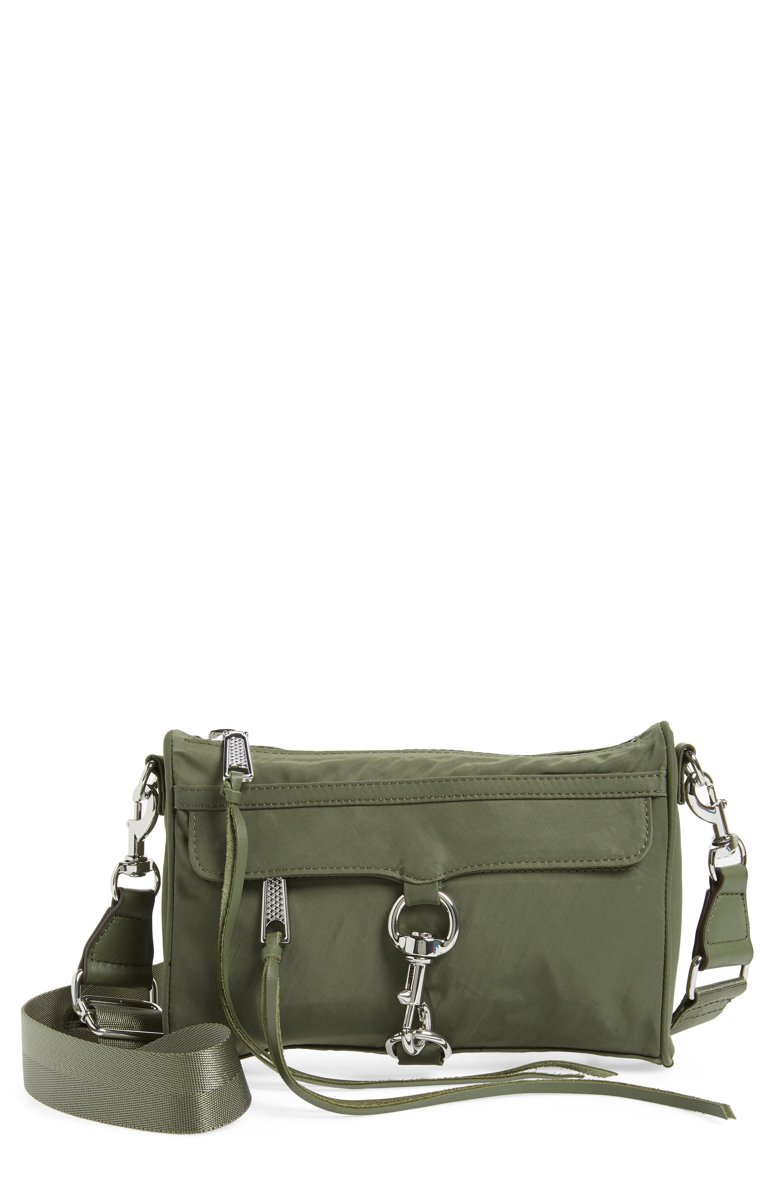 Mini Mac Convertible Crossbody Bag,                         Main,                         color, OLIVE