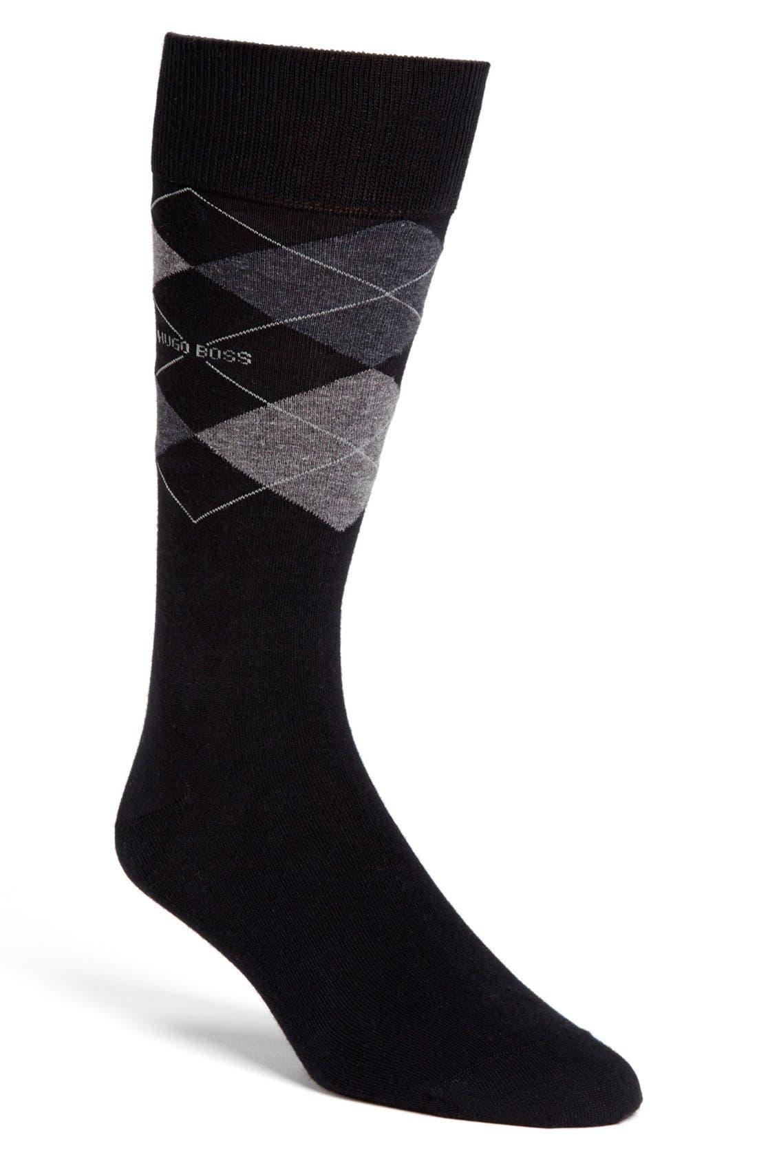 HUGO BOSS 'Dave' Socks,                             Main thumbnail 1, color,                             001