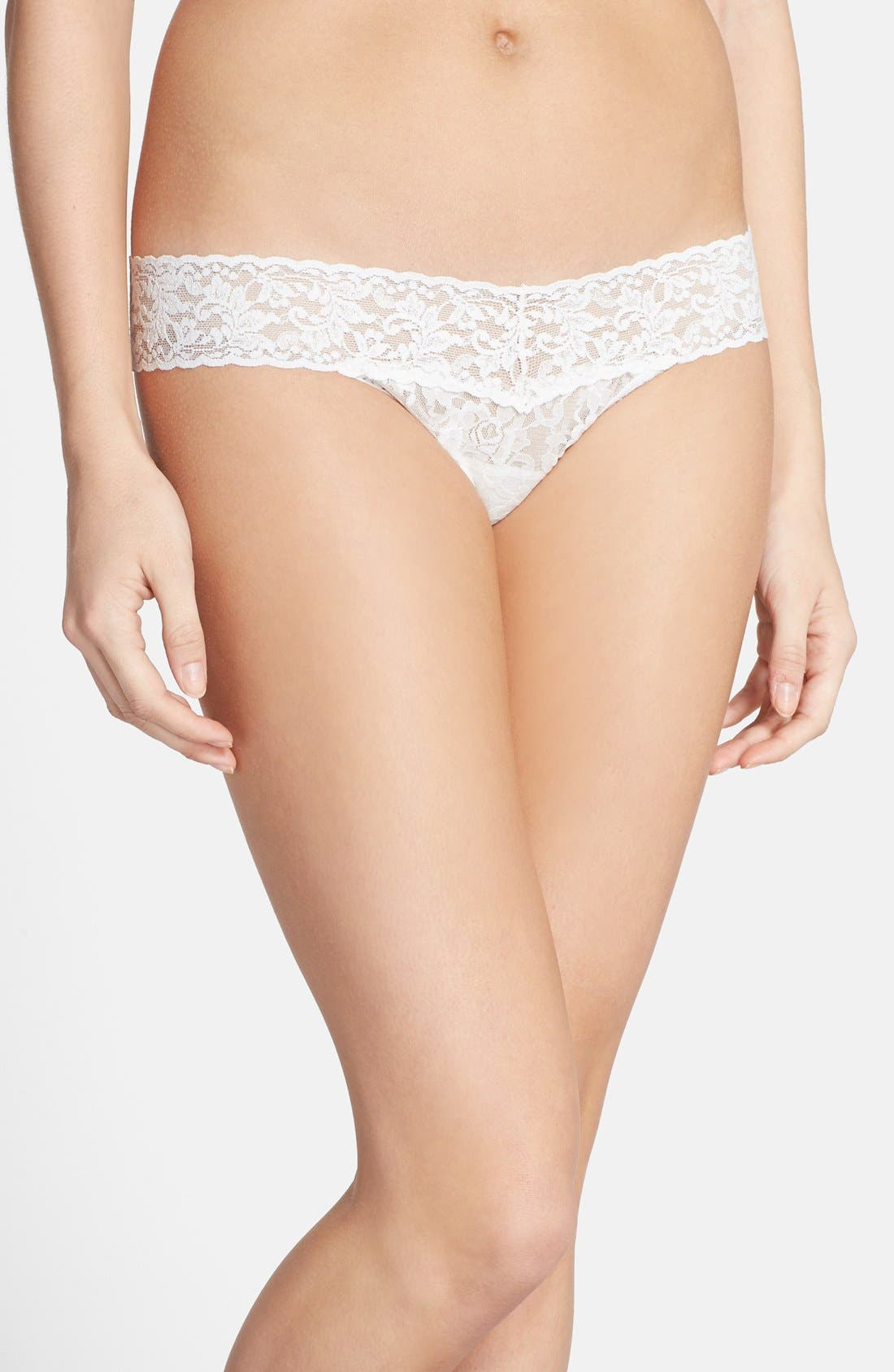 'Pearl' Low Rise Thong,                             Main thumbnail 1, color,                             LIGHT IVORY