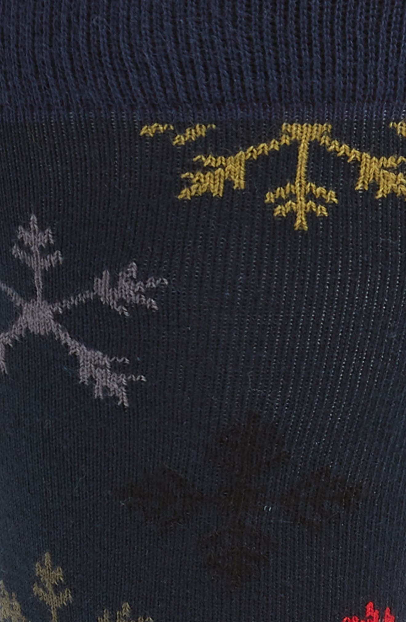 Snowflake Socks,                             Alternate thumbnail 2, color,                             001