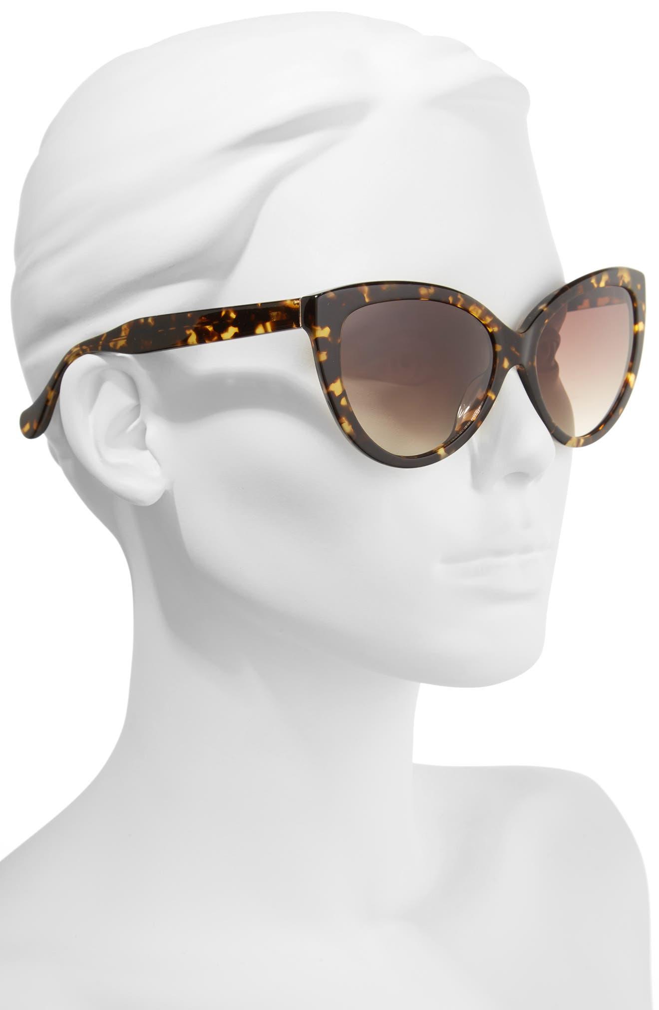 Curiosity 59mm Cat Eye Sunglasses,                             Alternate thumbnail 4, color,