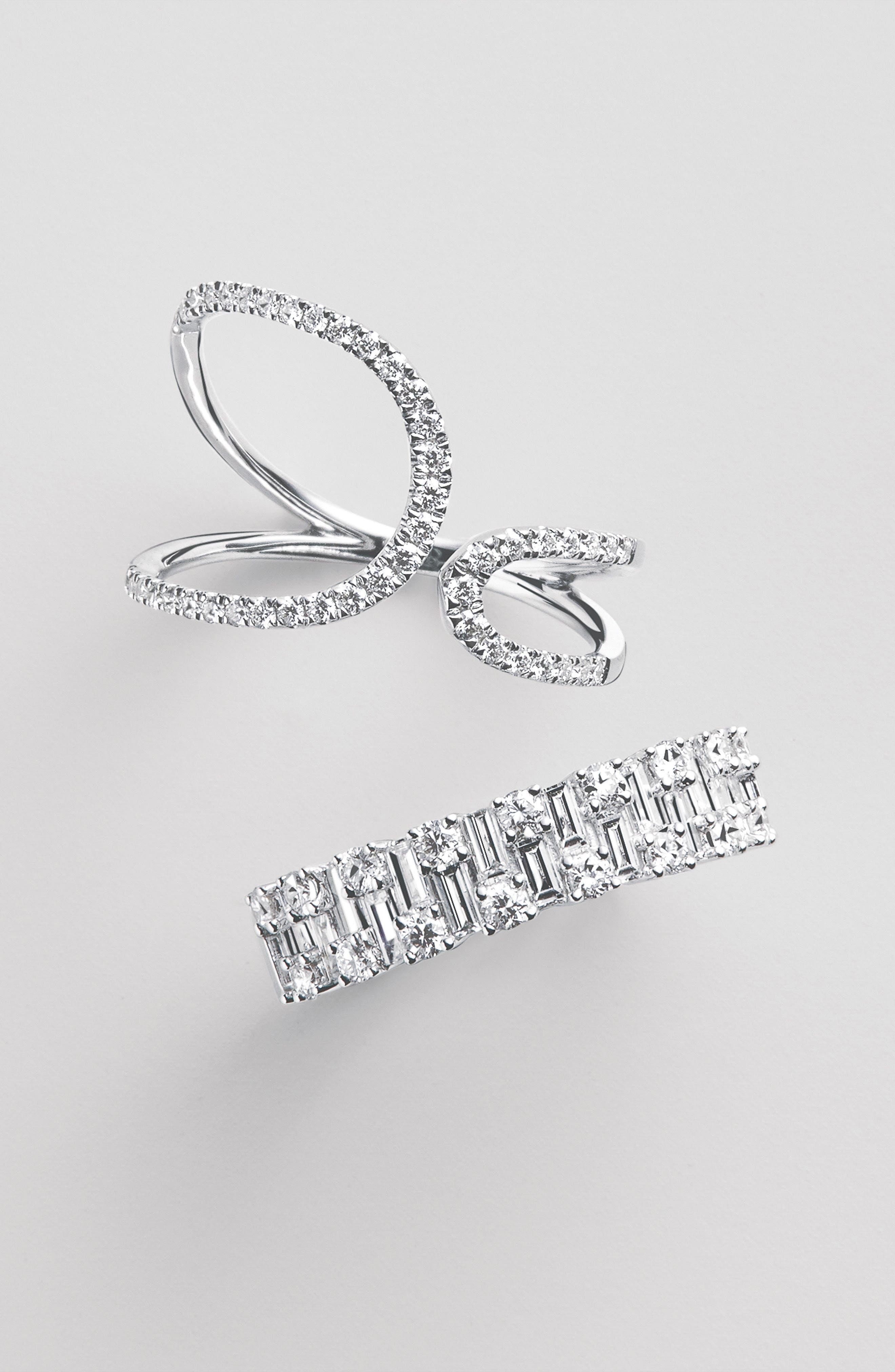 BONY LEVY,                             Multi Diamond Ring,                             Alternate thumbnail 4, color,                             WHITE GOLD