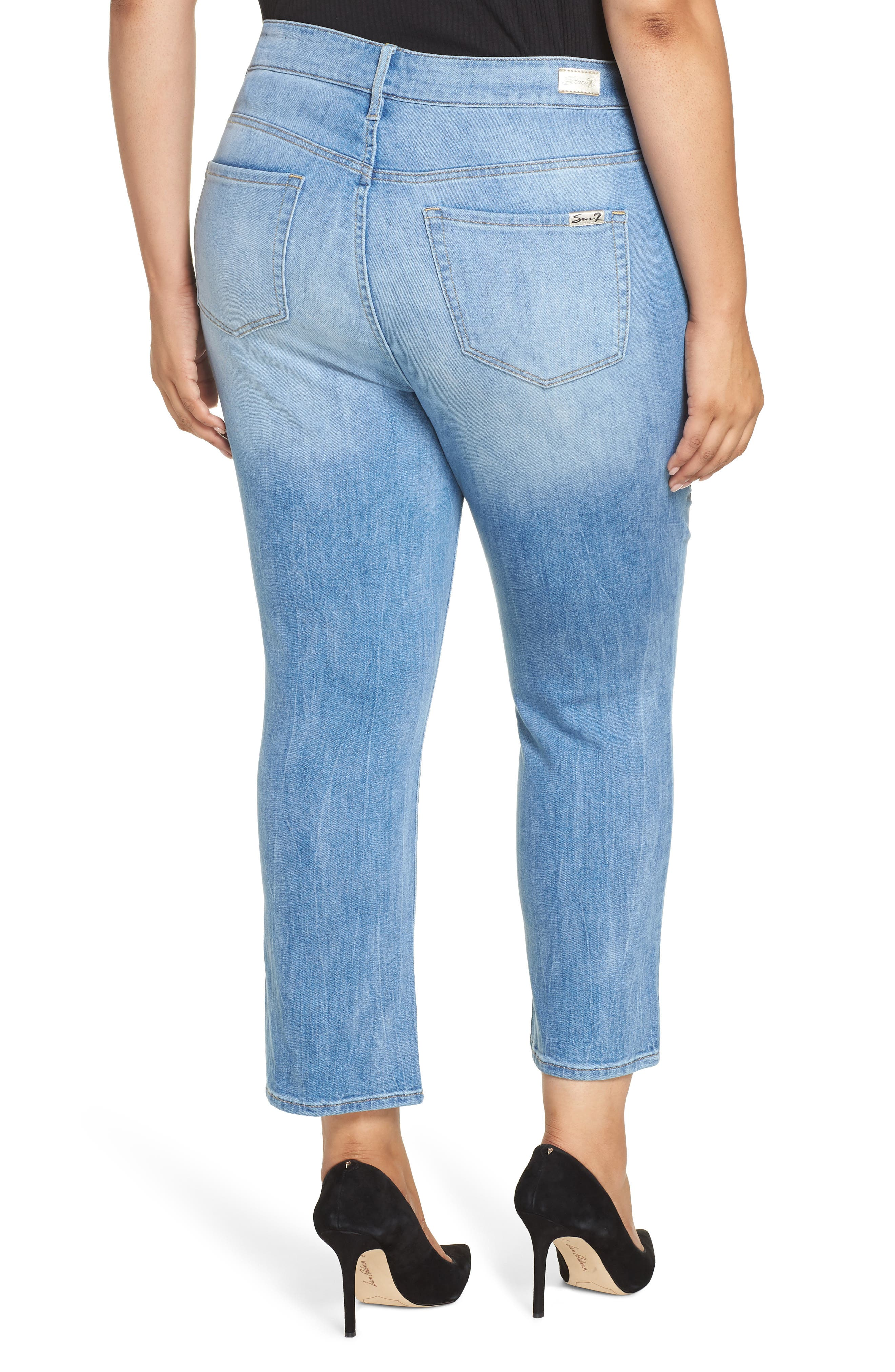 SEVEN7,                             High Rise Straight Crop Jeans,                             Alternate thumbnail 2, color,                             AFFECTION