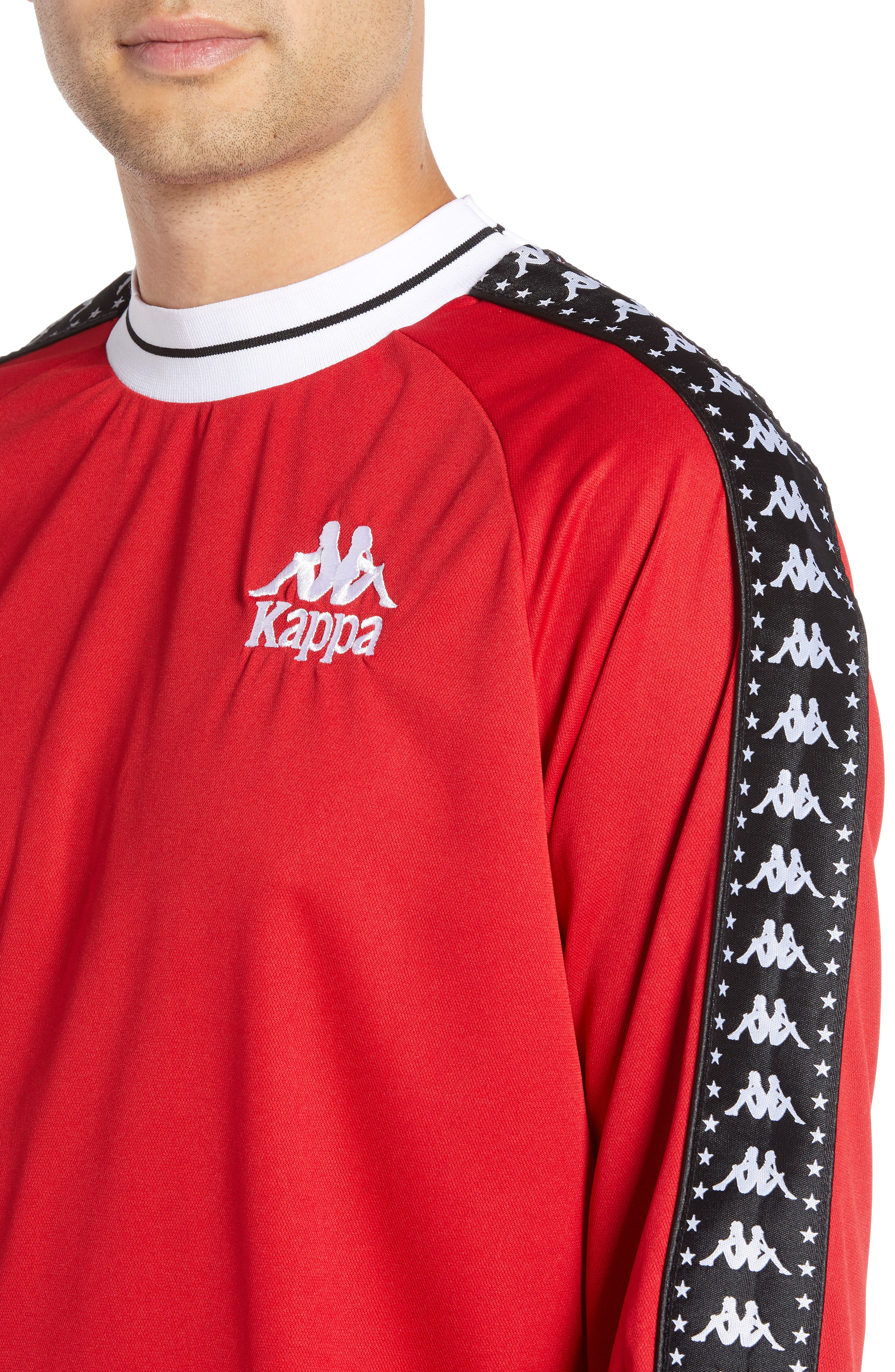 Authentic Aneat Logo Taped Long Sleeve T-Shirt,                             Alternate thumbnail 4, color,                             RED/ BLACK/ WHITE