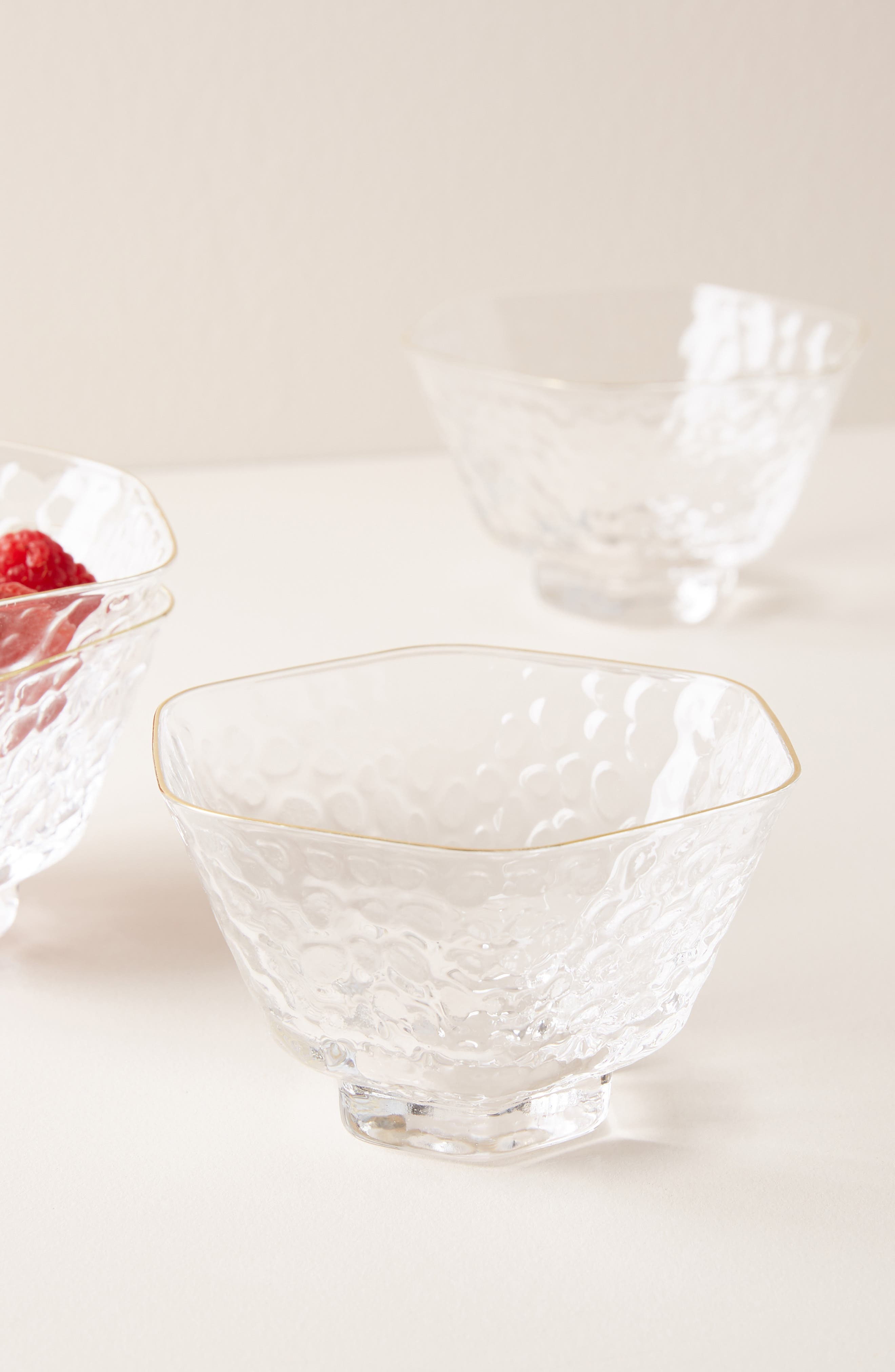 anthropologie cici set of 4 nut bowls, size one size - white