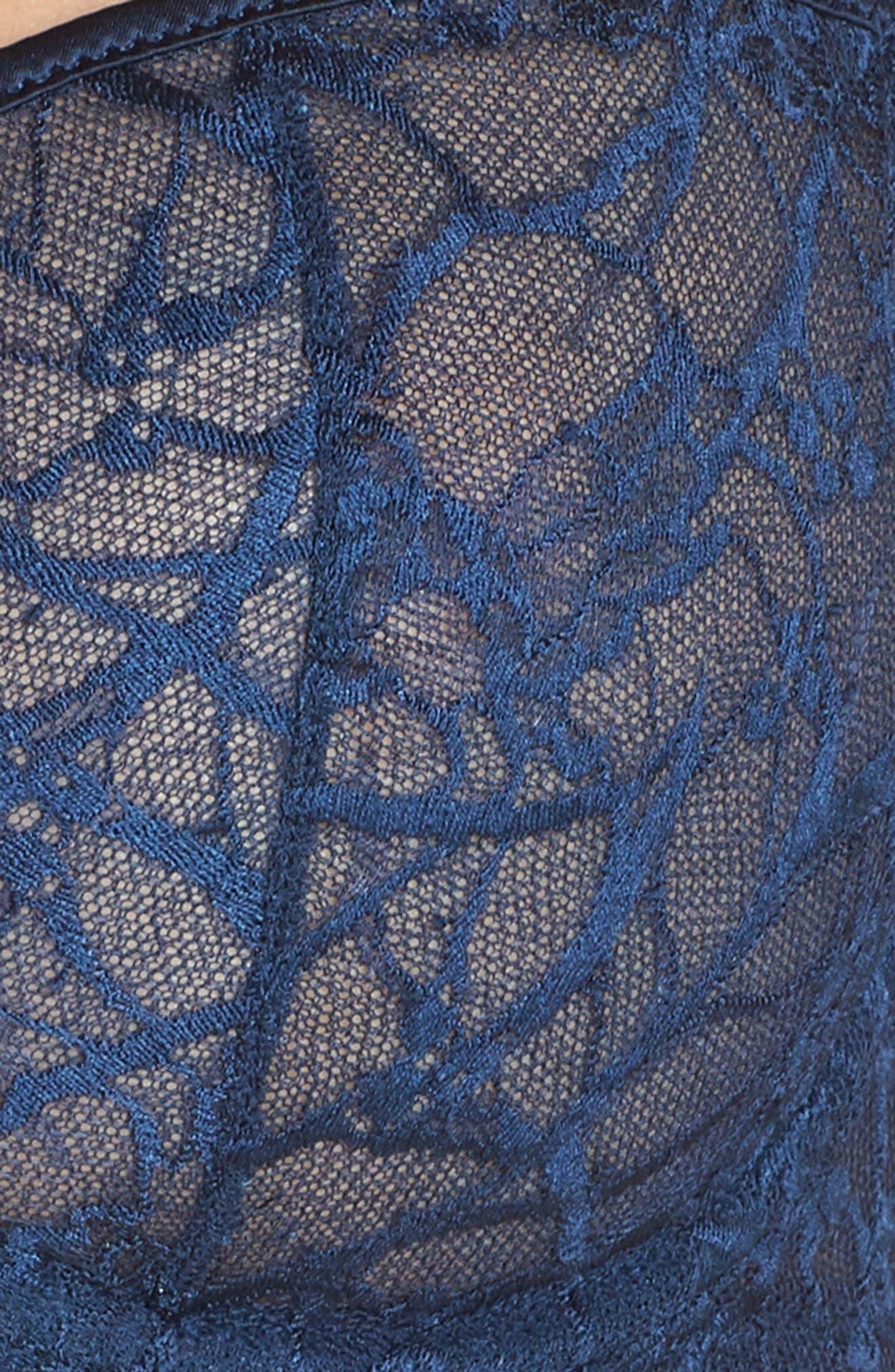 CHANTELLE INTIMATES,                             Segur Lace Underwire Demi Bra,                             Alternate thumbnail 6, color,                             DEEP BLUE