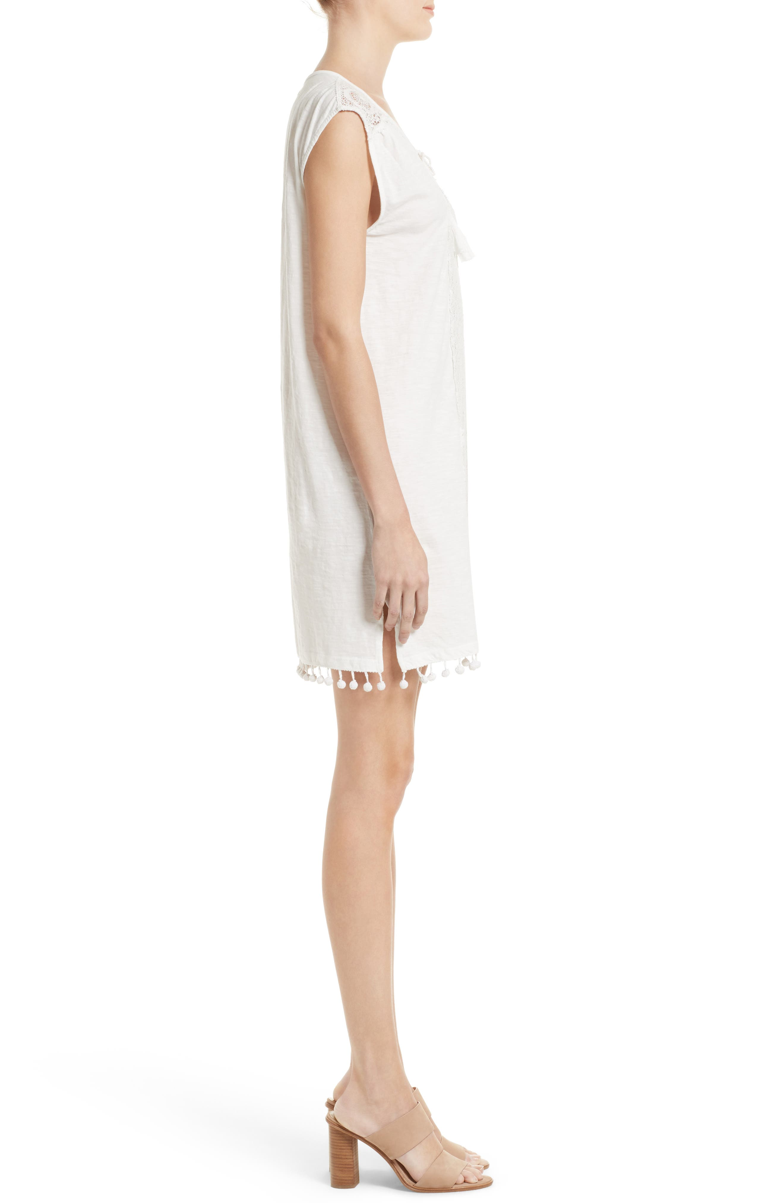 Kanae Lace Trim Shift Dress,                             Alternate thumbnail 3, color,                             900