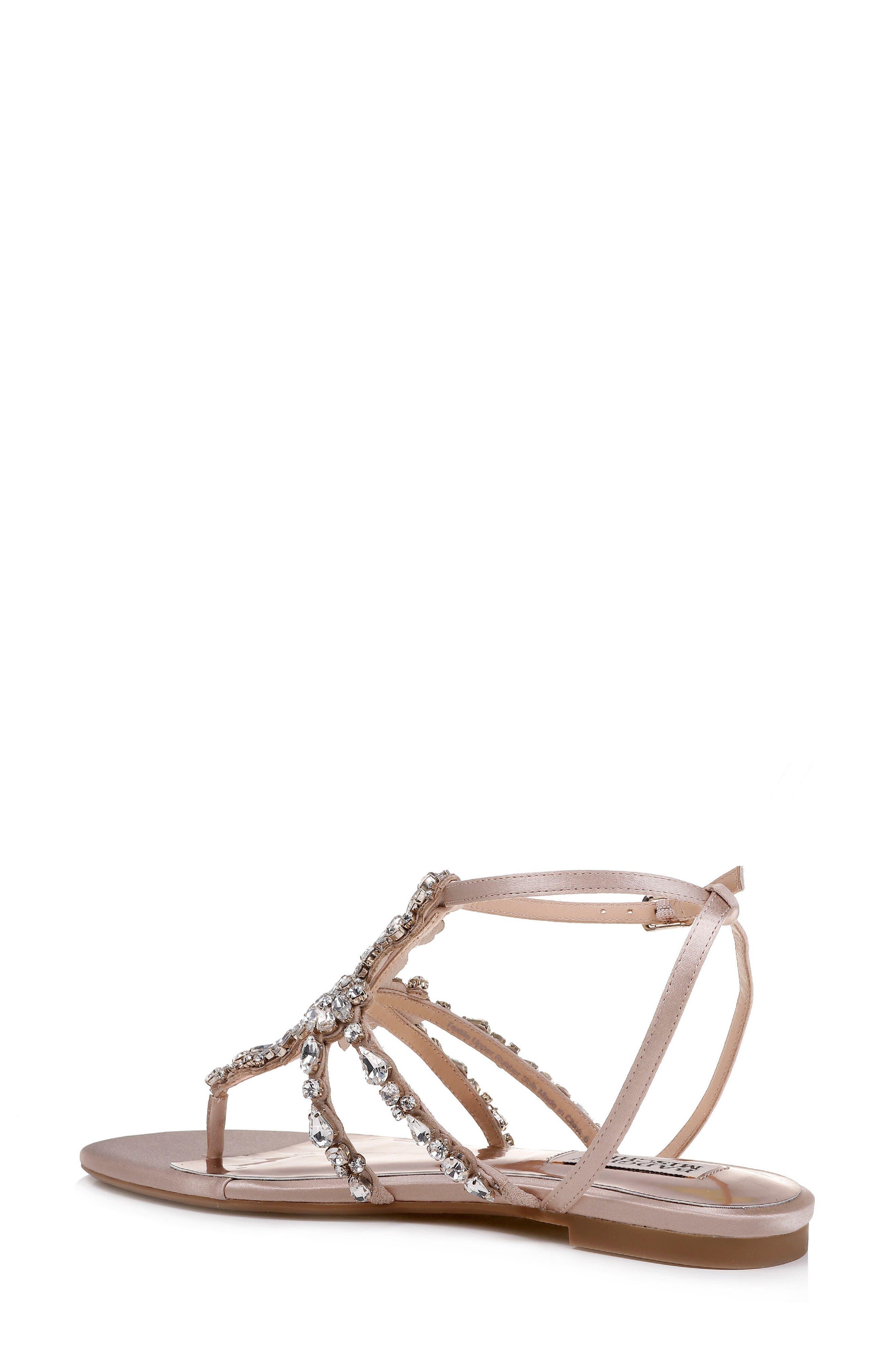 Hampden Crystal Embellished Sandal,                             Alternate thumbnail 2, color,                             LATTE SATIN