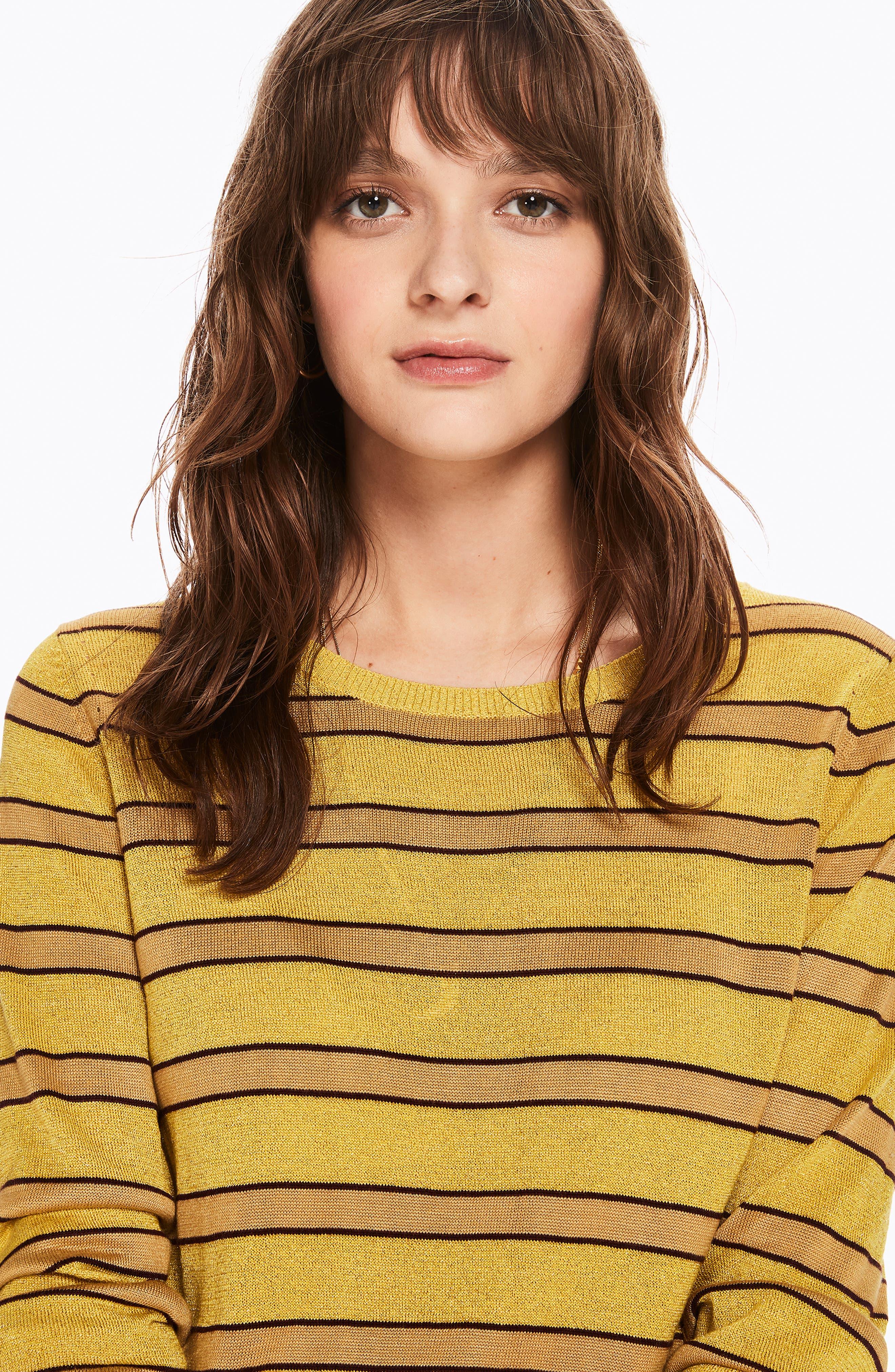 Stripe Crewneck Sweater,                             Alternate thumbnail 4, color,                             730