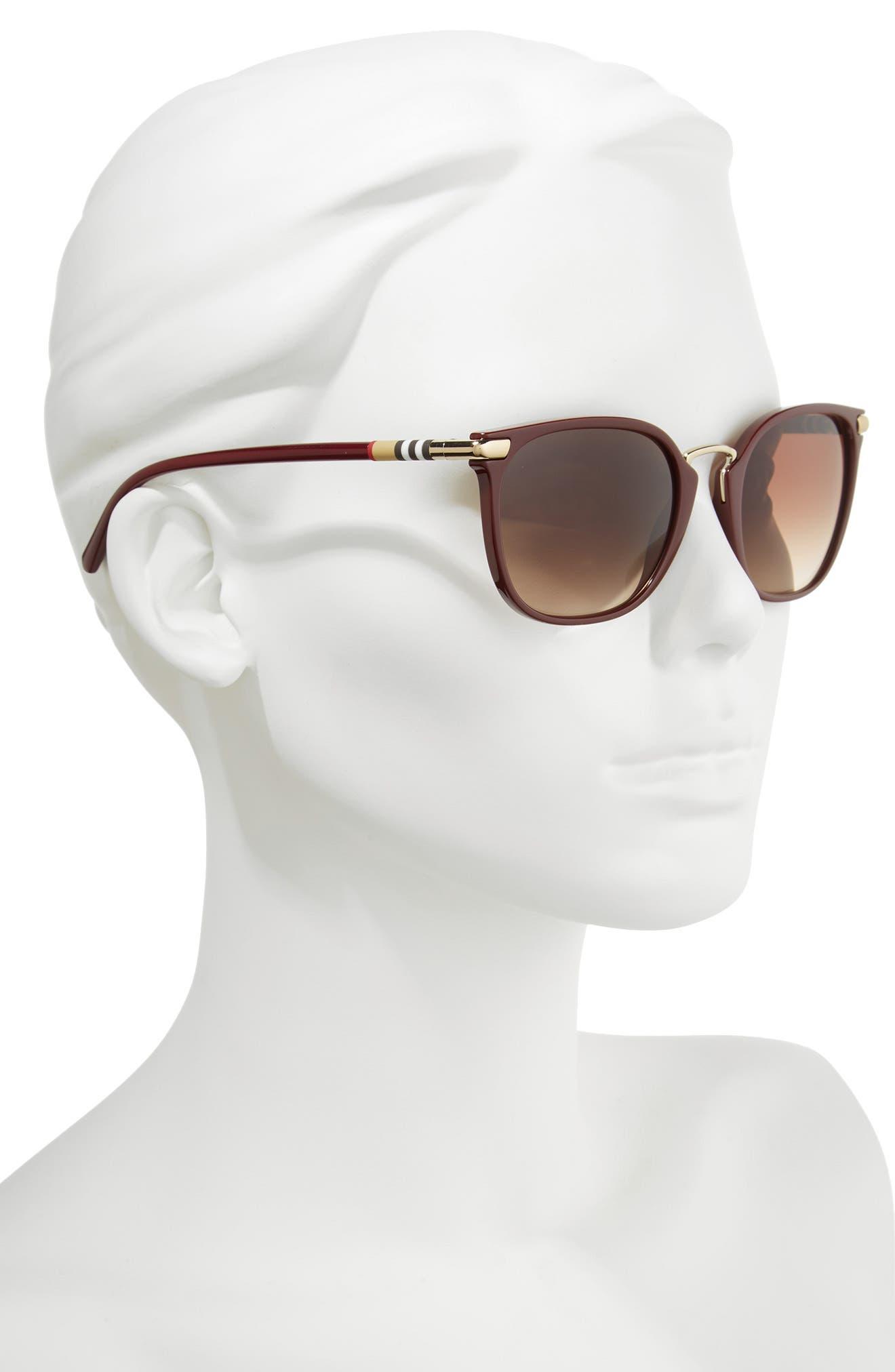 53mm Gradient Square Sunglasses,                             Alternate thumbnail 9, color,