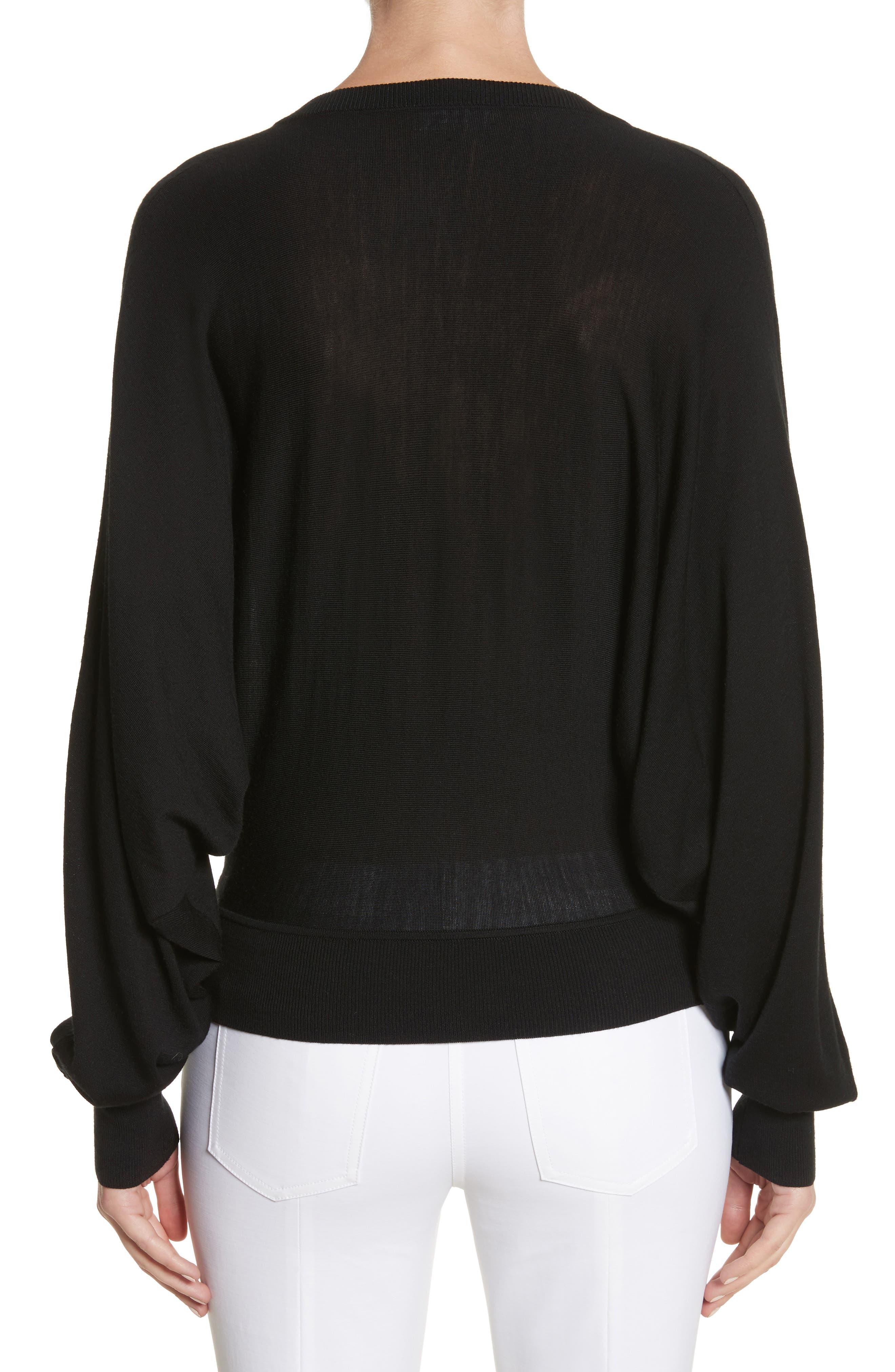 Merino Wool Blend Dolman Sweater,                             Alternate thumbnail 2, color,                             001