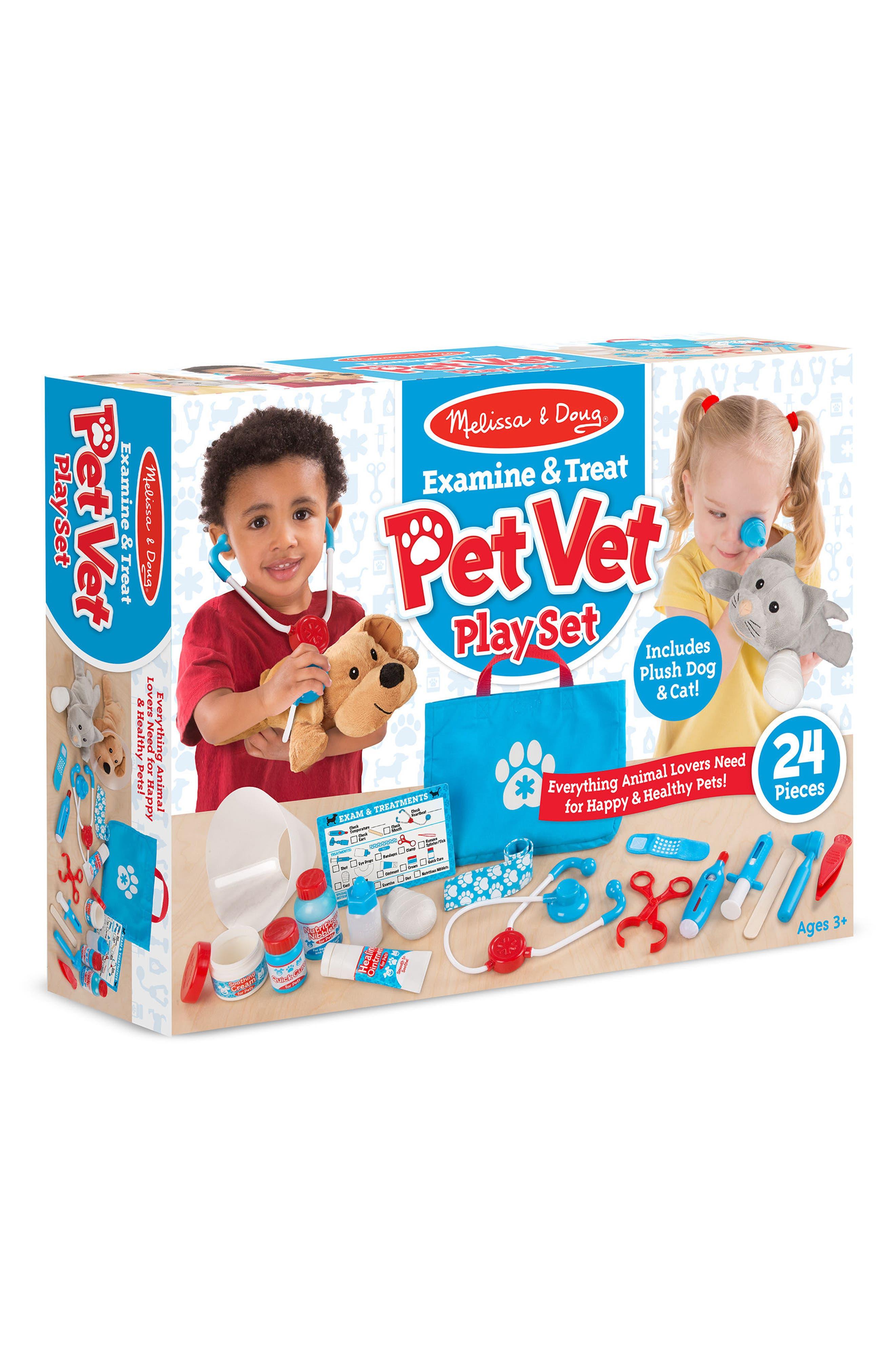 MELISSA & DOUG,                             24-Piece Pet Vet Play Set,                             Alternate thumbnail 2, color,                             BLUE