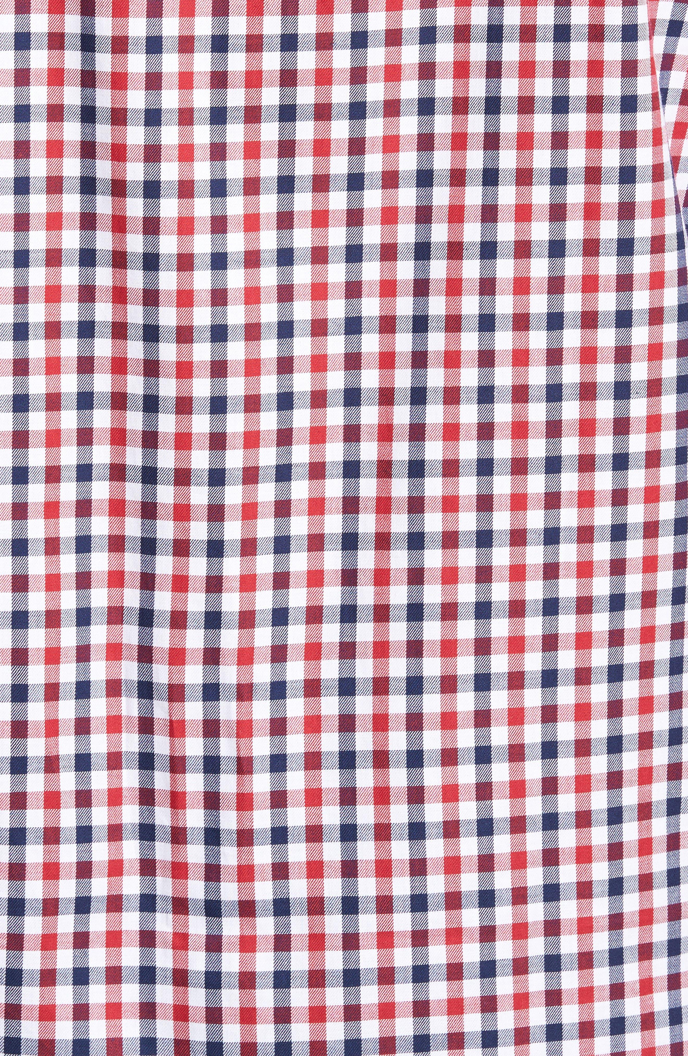 Bernice Check Sport Shirt,                             Alternate thumbnail 5, color,                             600