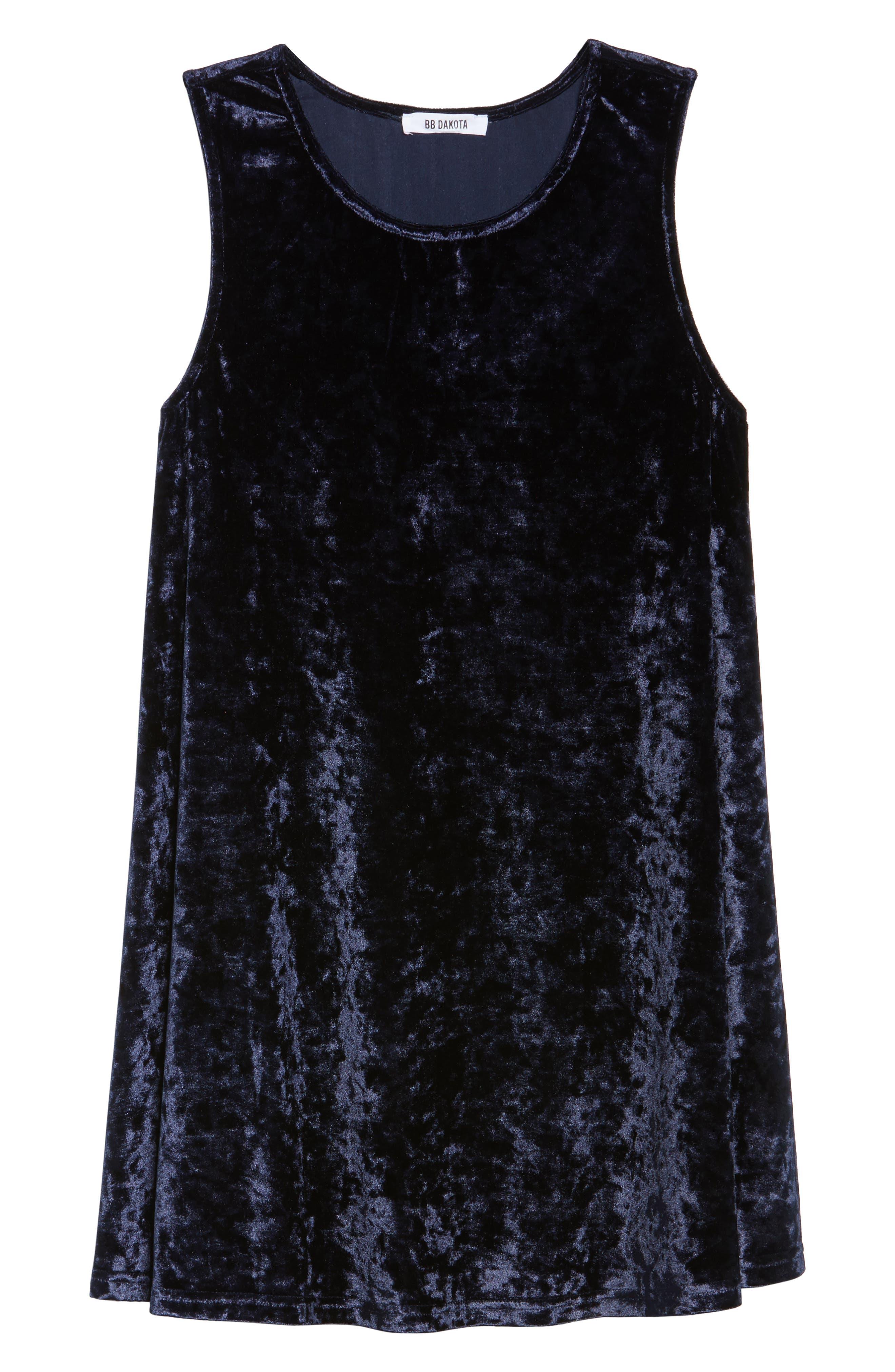 Crushed Velvet Shift Dress,                             Alternate thumbnail 6, color,                             018