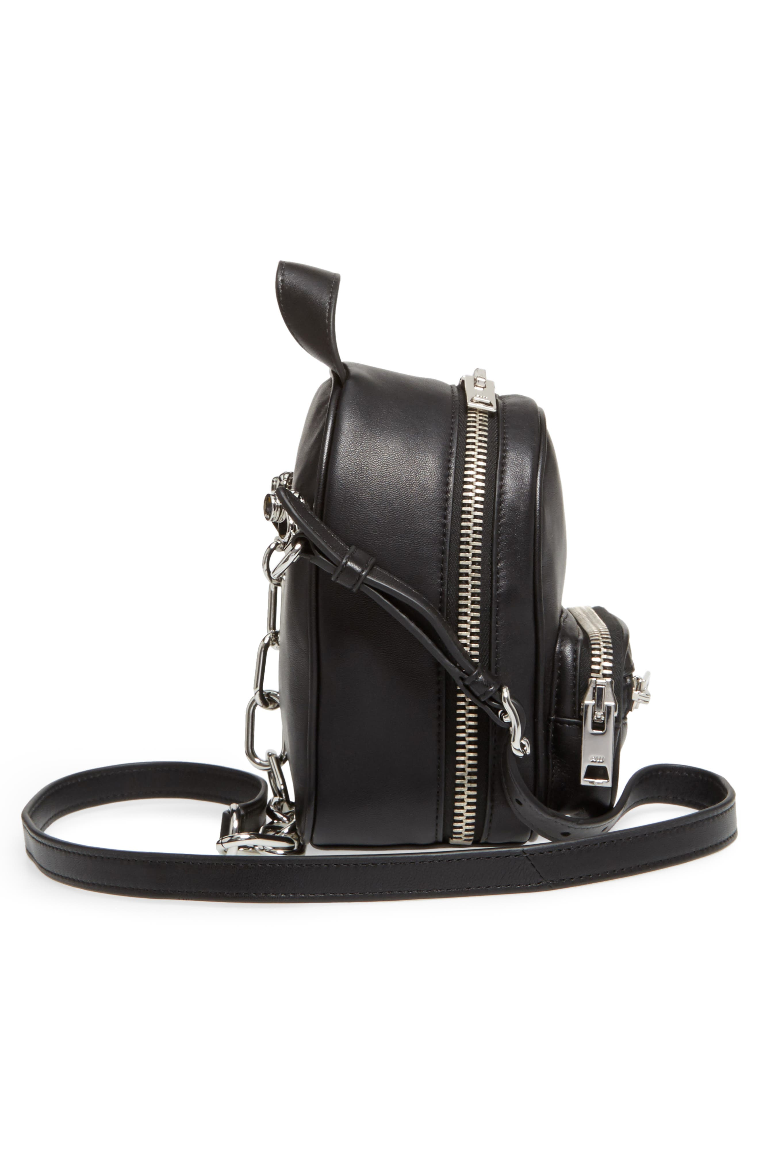 Mini Attica Leather Backpack Shaped Crossbody Bag,                             Alternate thumbnail 5, color,