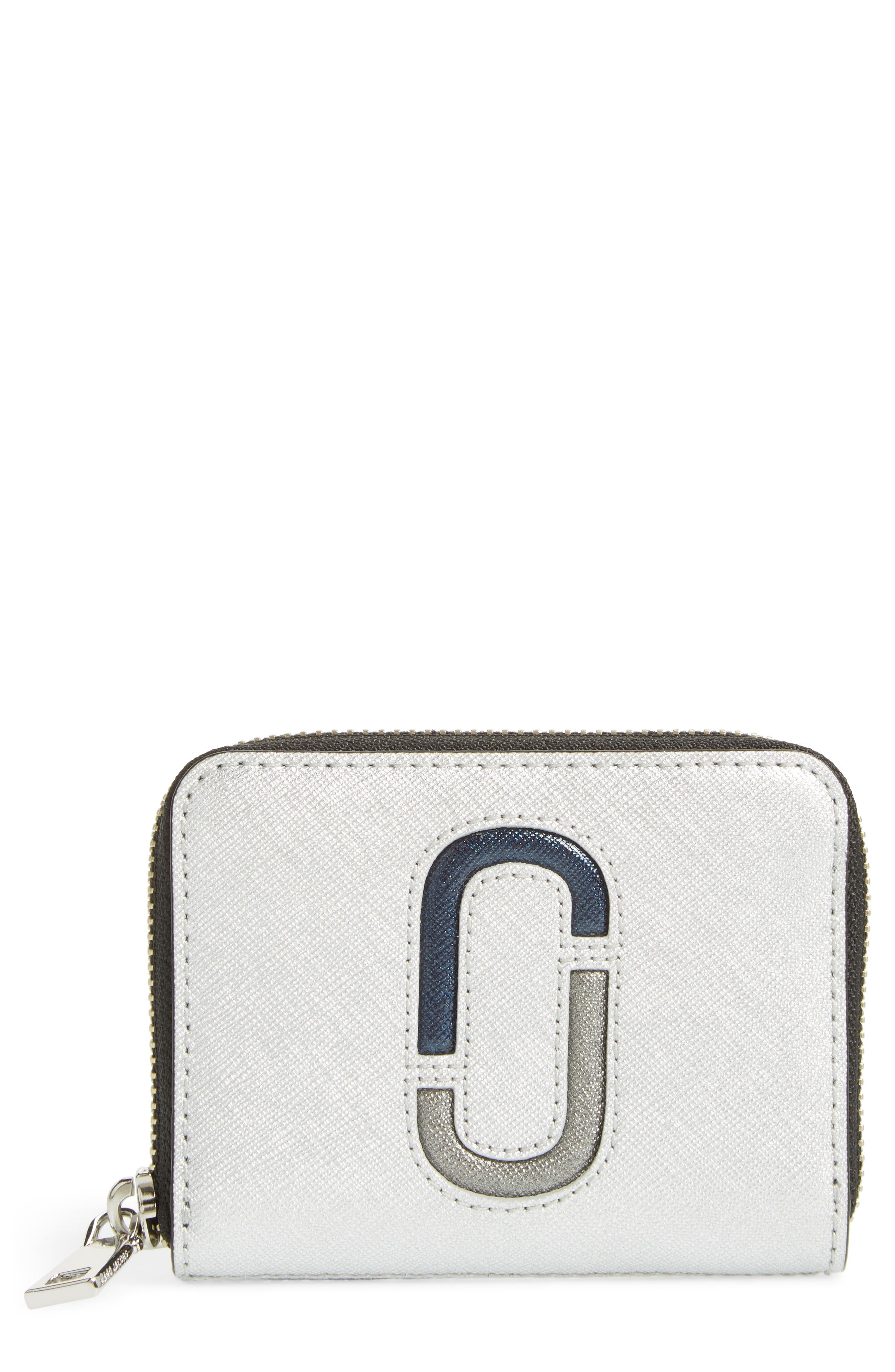 Snapshot Saffiano Leather Zip Around Wallet,                             Main thumbnail 1, color,                             040