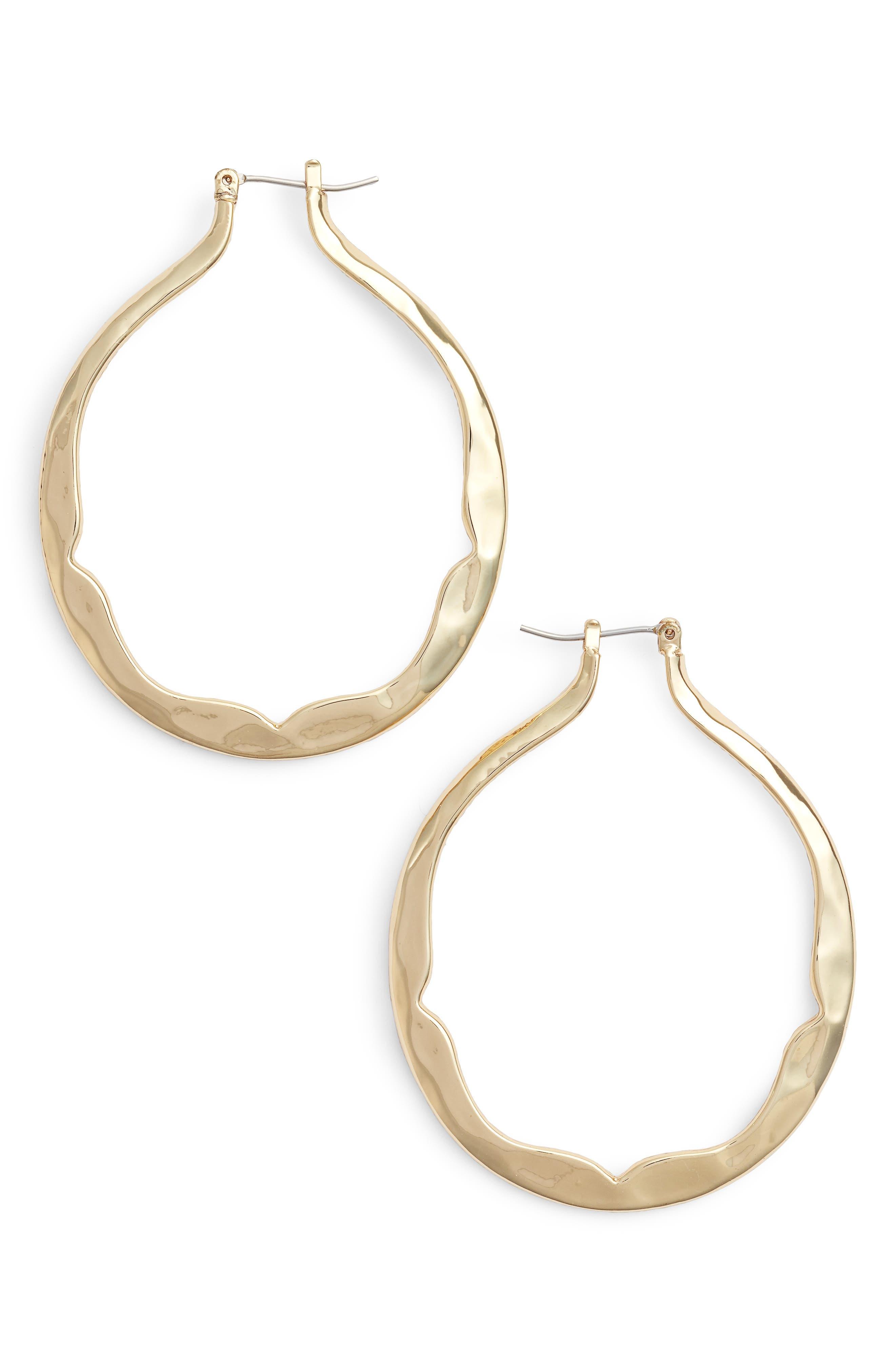Scalloped Hoop Earrings,                         Main,                         color, 710