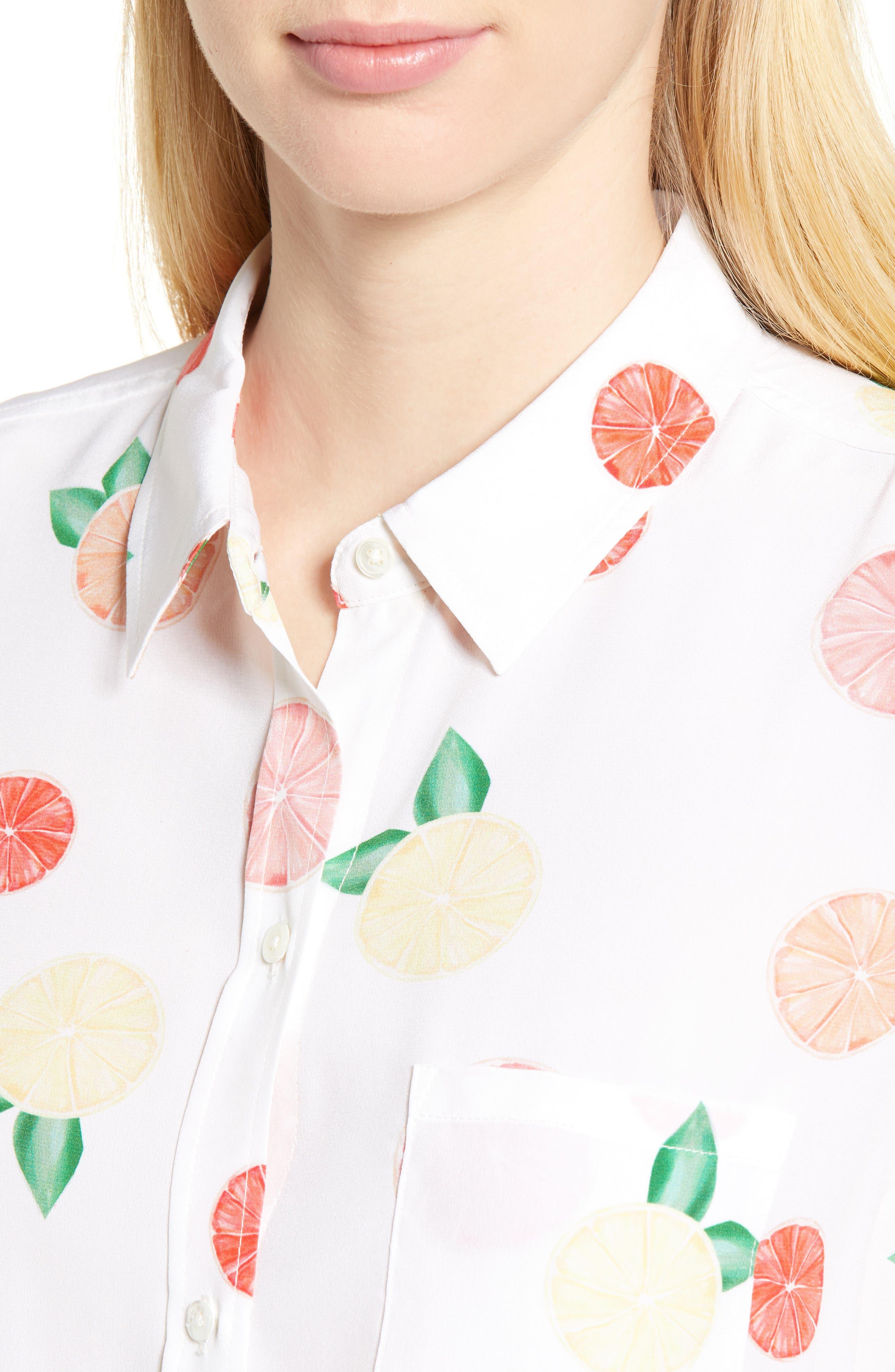 Kate Print Shirt,                             Alternate thumbnail 55, color,