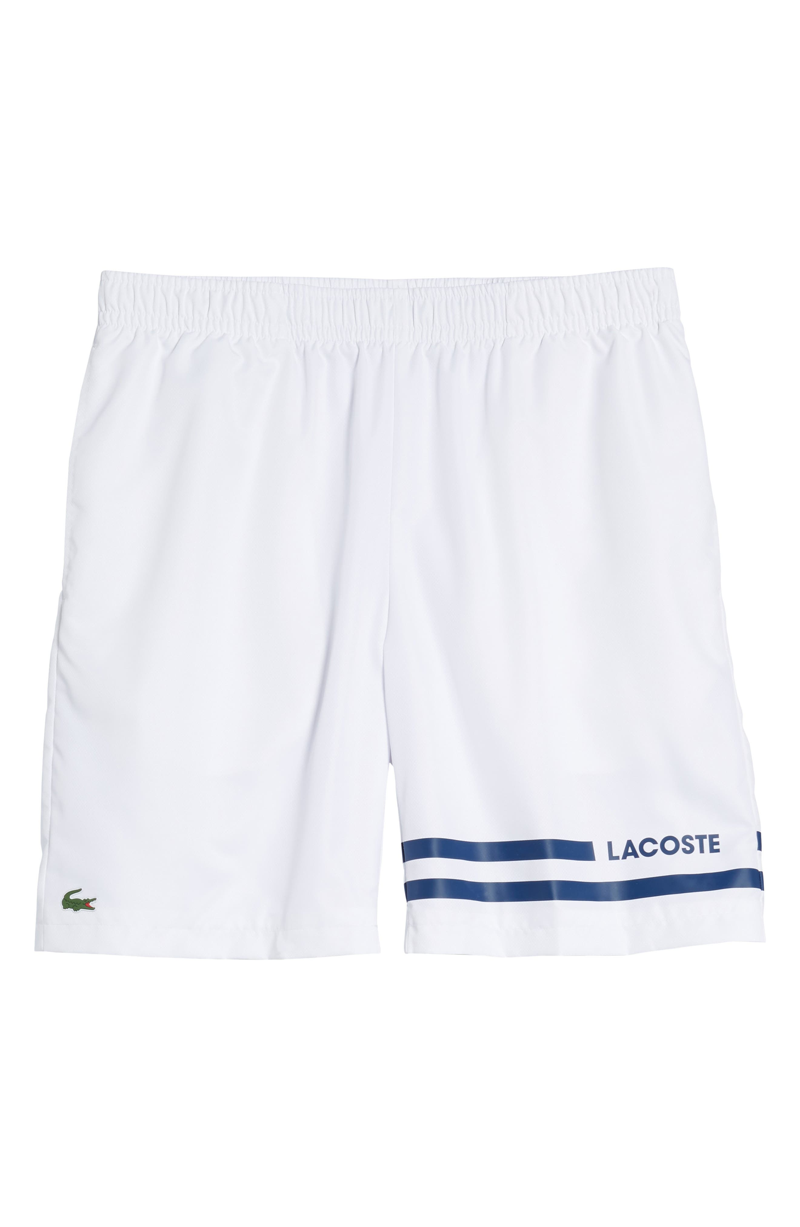 Stripe Shorts,                             Alternate thumbnail 6, color,                             WHITE/ MARINO