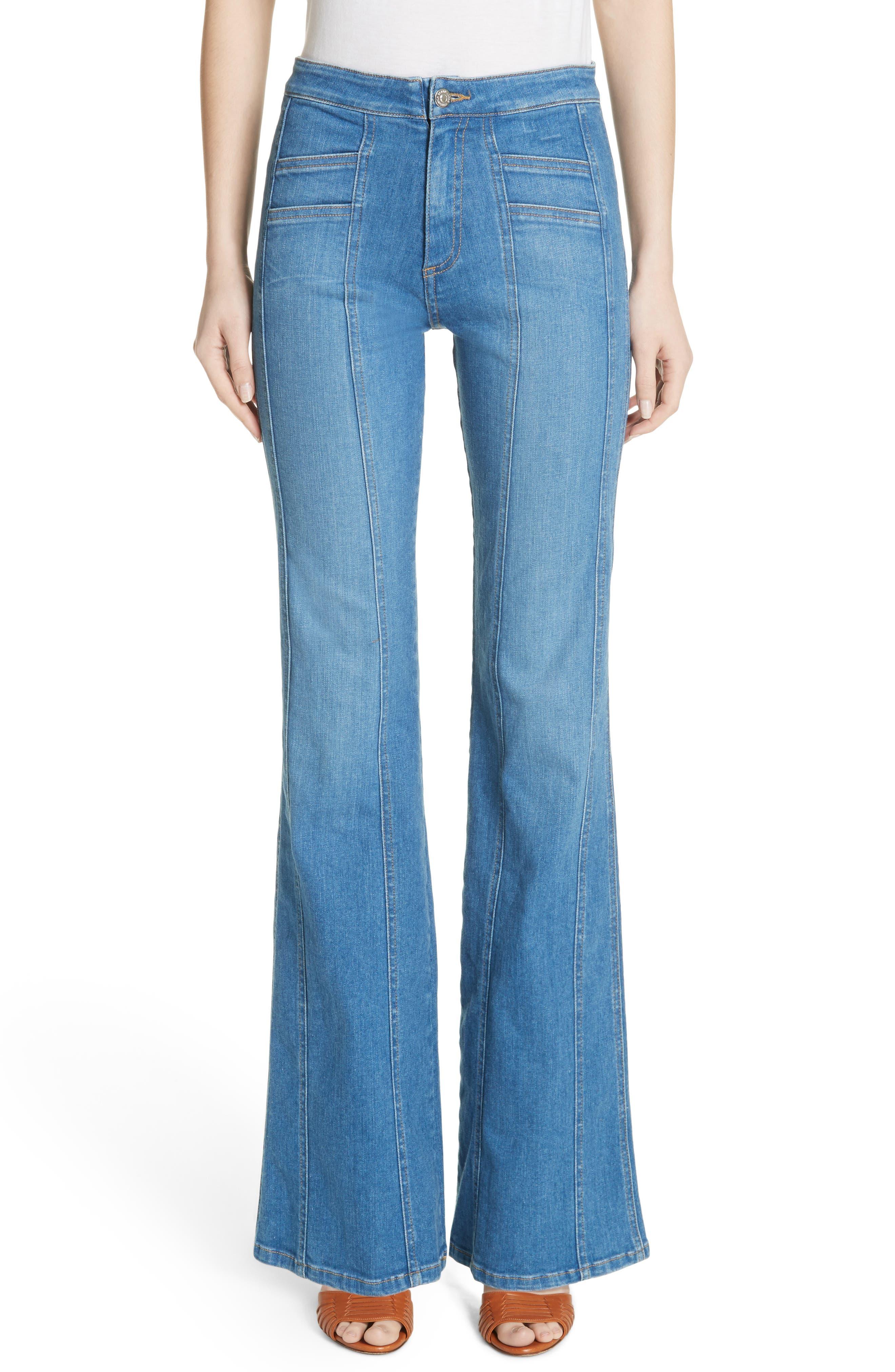 Farrah Wide Leg Jeans,                         Main,                         color, 400