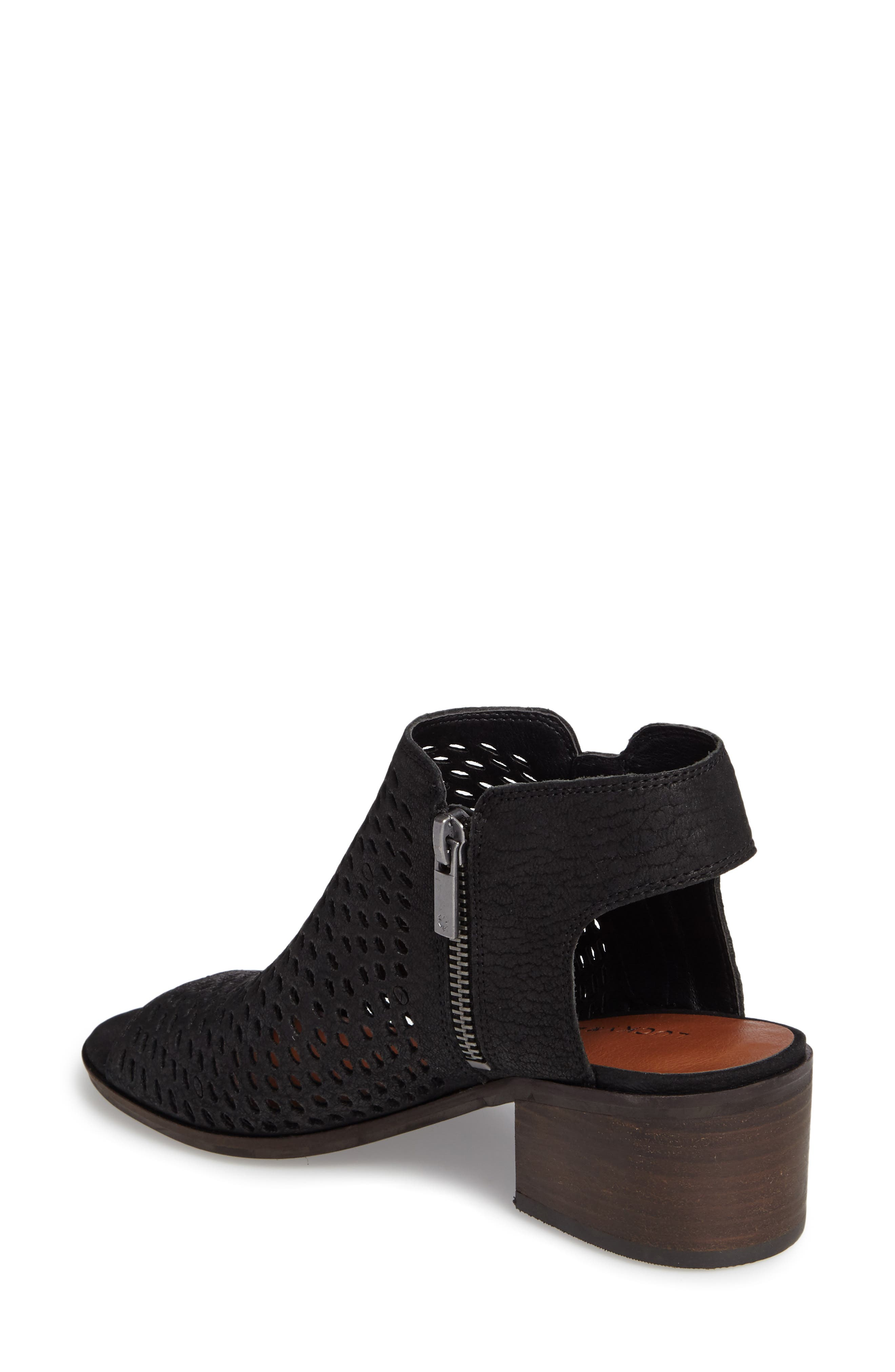 Nelwyna Perforated Bootie Sandal,                             Alternate thumbnail 2, color,                             001