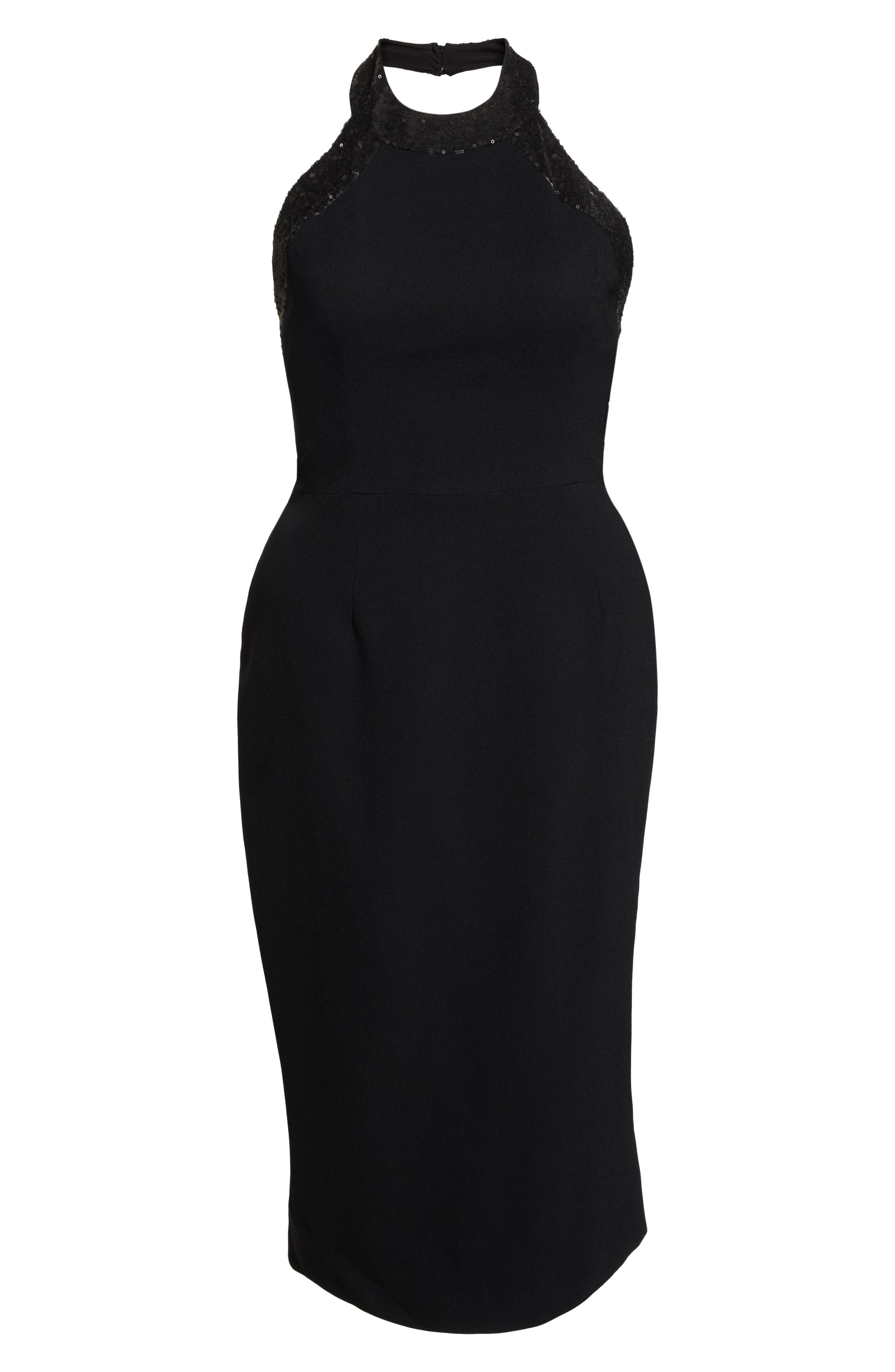Cleo Halter Dress,                             Alternate thumbnail 11, color,                             BLACK/ BLACK
