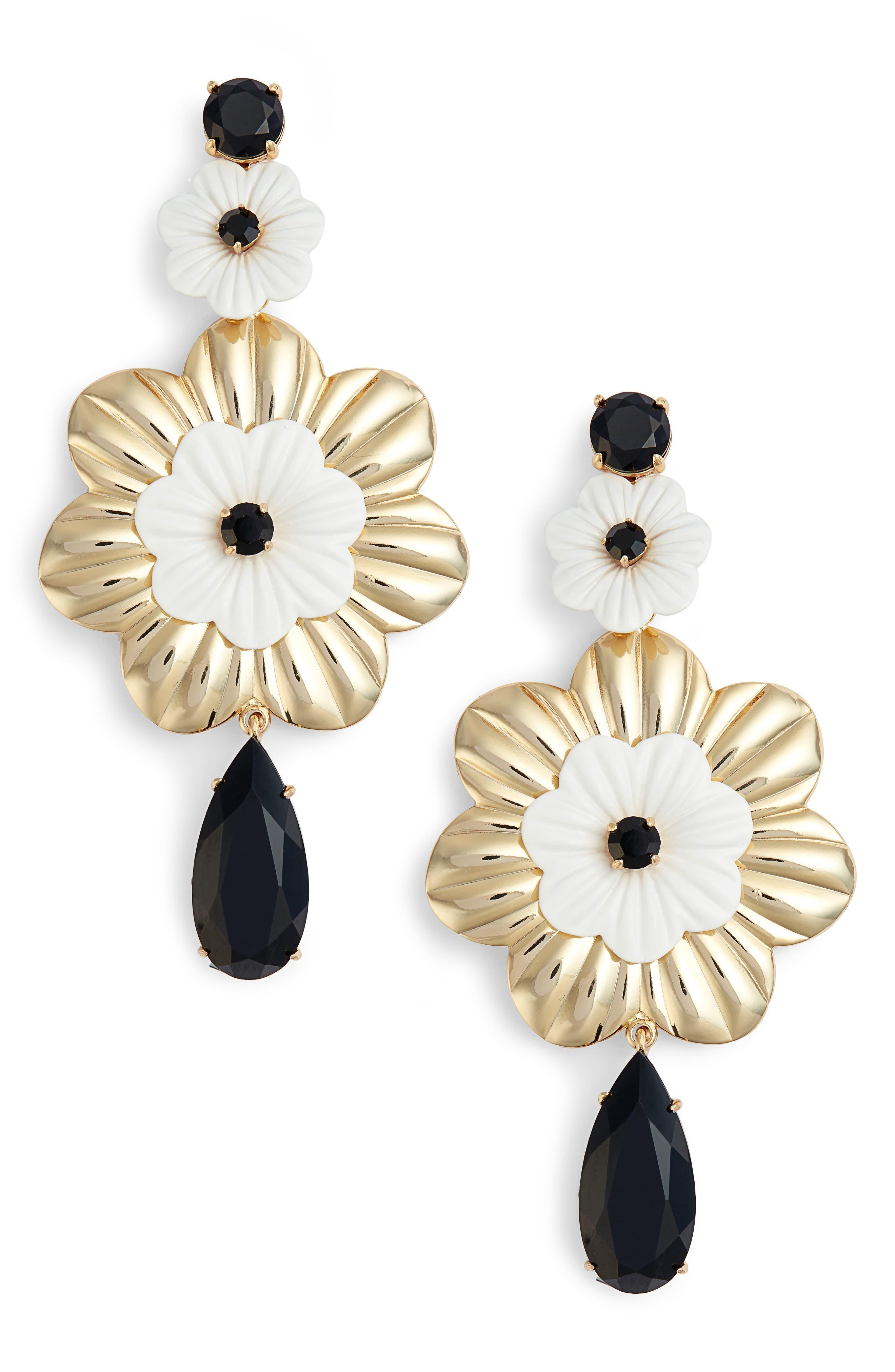 posy grove statement earrings,                             Main thumbnail 1, color,