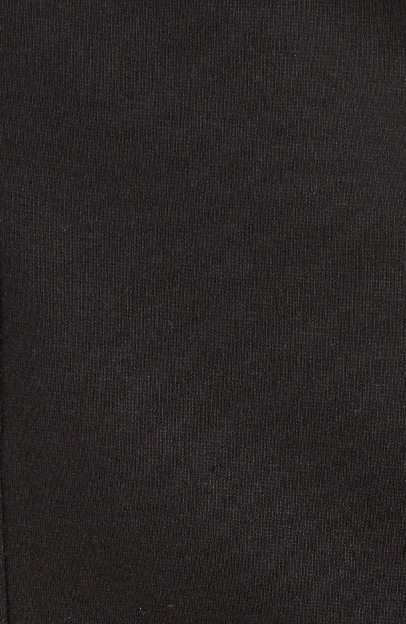 Clara Zip Hoodie,                             Alternate thumbnail 5, color,                             BLACK
