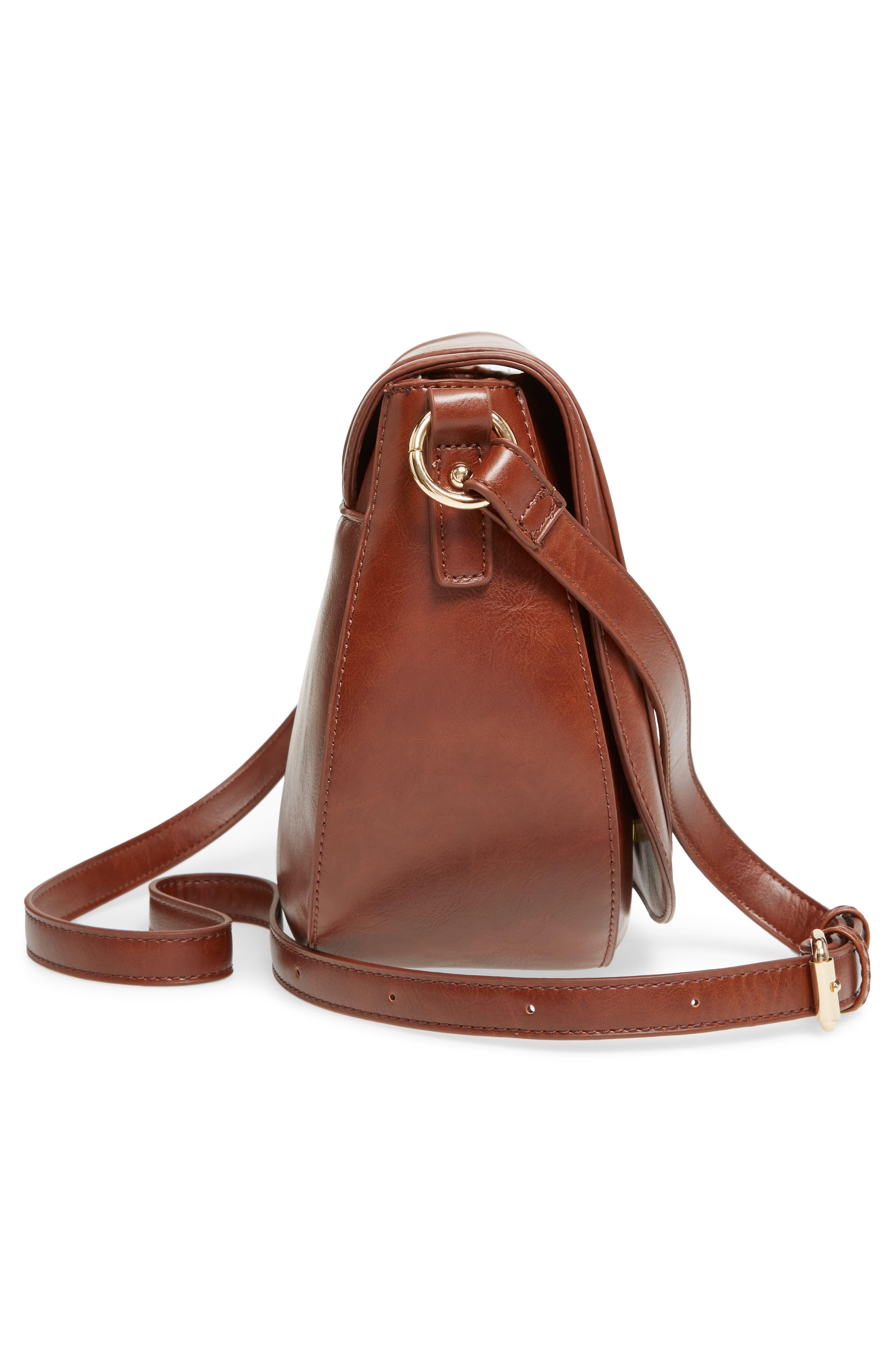 Piri Faux Leather Saddle Bag,                             Alternate thumbnail 15, color,