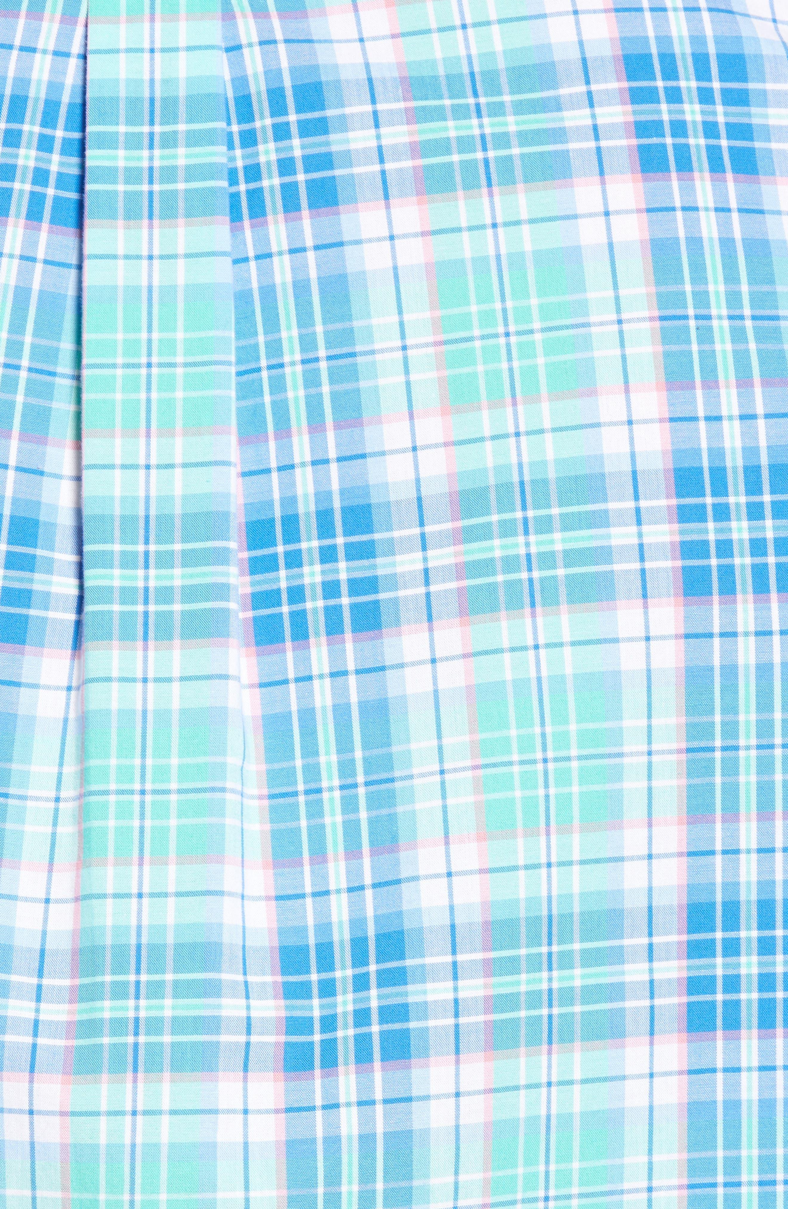 Sutherland Road Slim Fit Plaid Sport Shirt,                             Alternate thumbnail 5, color,                             359