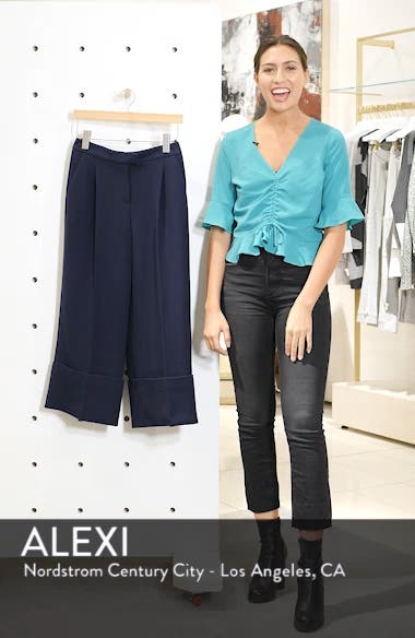 x Atlantic-Pacific High Waist Wide Cuff Ankle Pants, sales video thumbnail