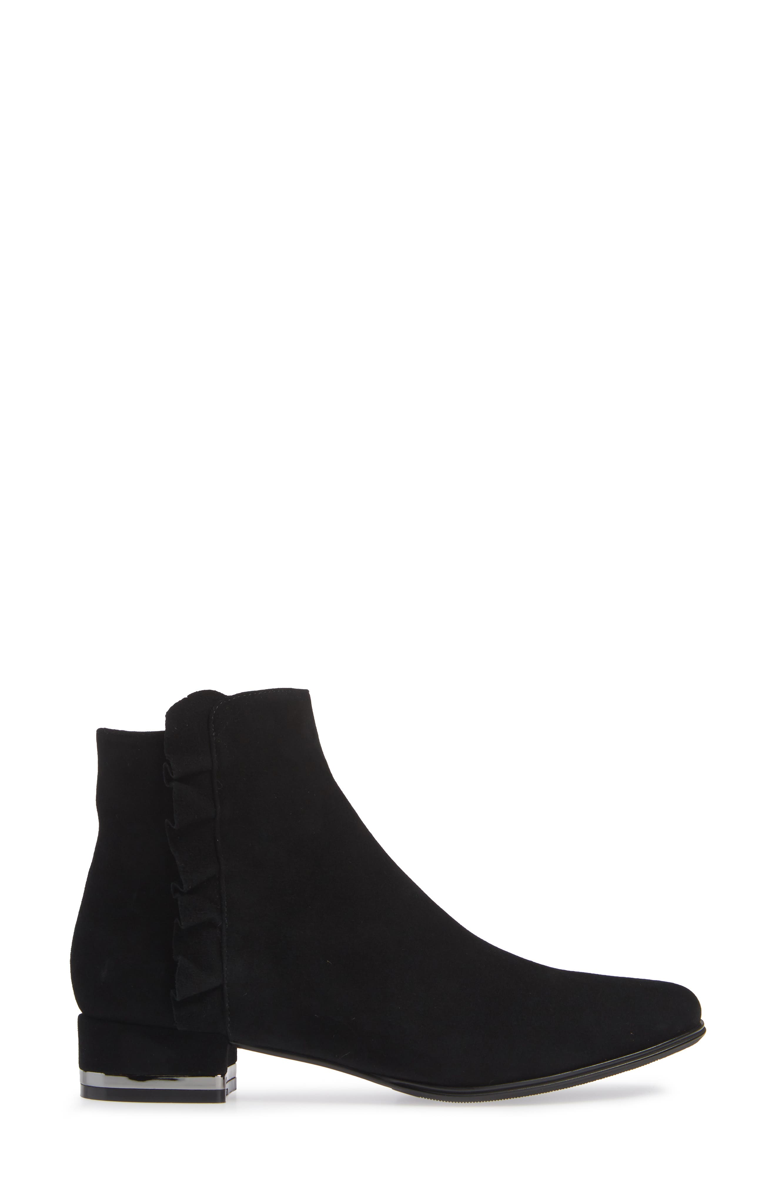 Amoke Bootie,                             Alternate thumbnail 3, color,                             BLACK SUEDE