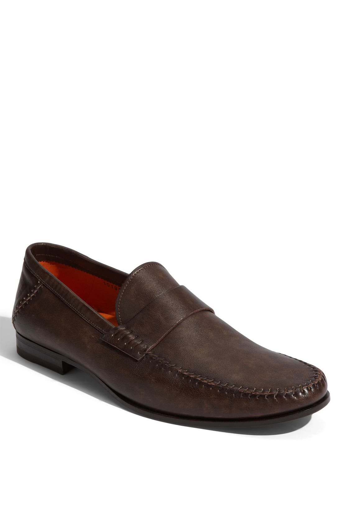 SANTONI Paine Loafer in Dark Brown