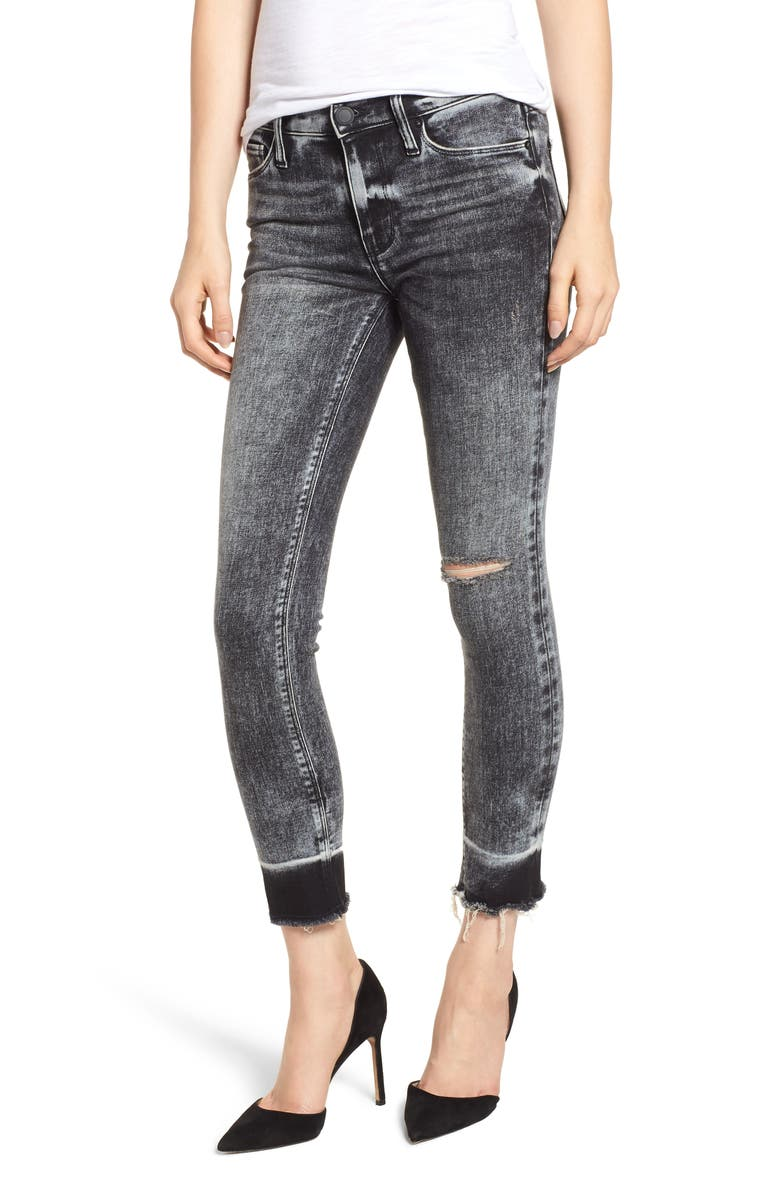 Nico Raw Hem Crop Super Skinny Jeans