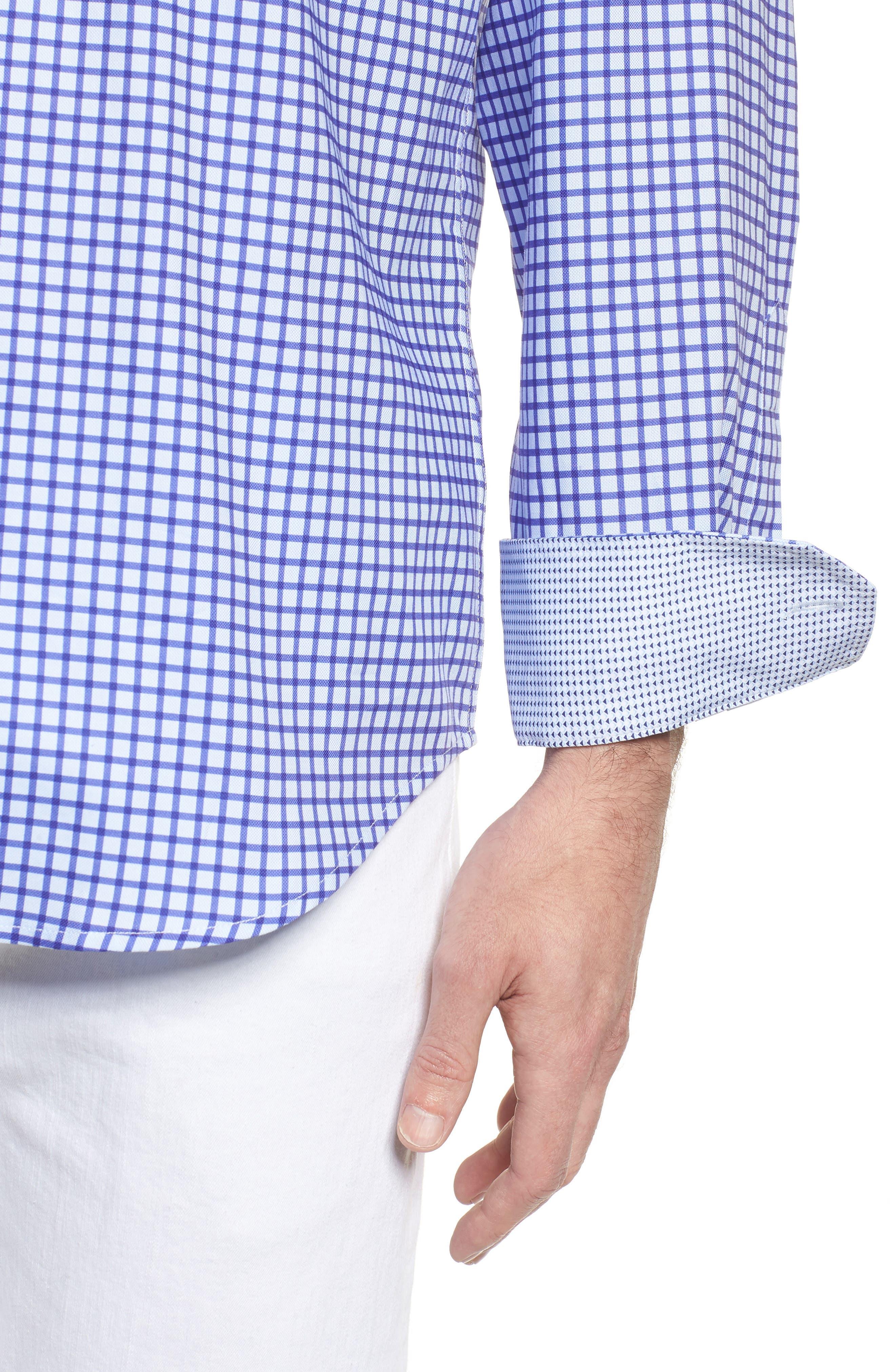 Classic Fit Check Sport Shirt,                             Alternate thumbnail 4, color,                             513