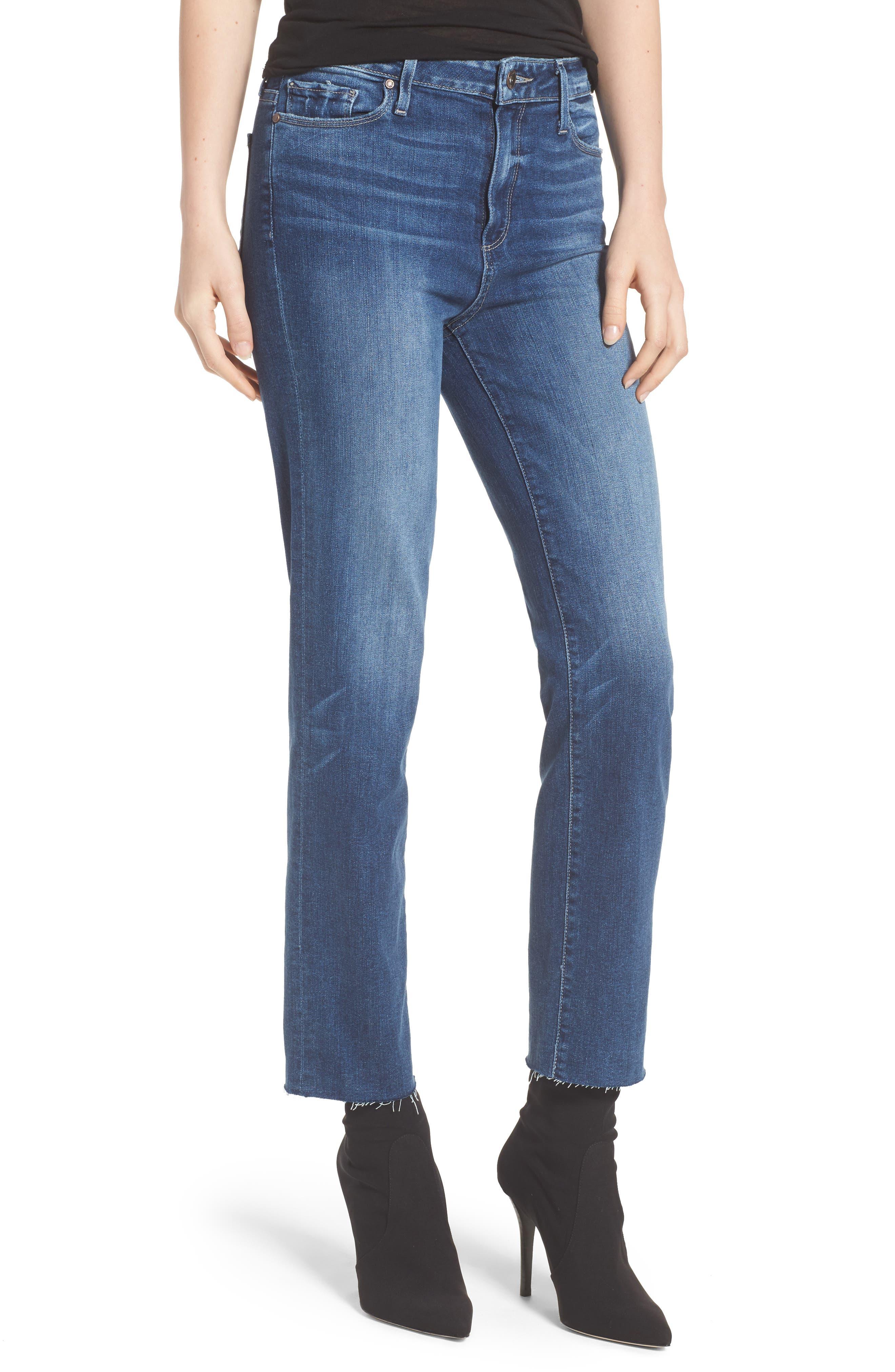 Transcend - Hoxton Ankle Straight Leg Jeans,                         Main,                         color, 400