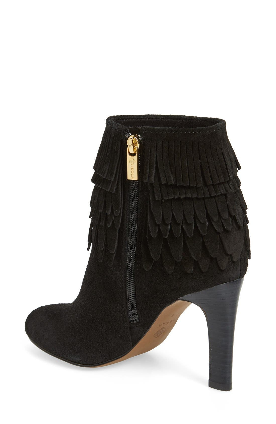 'Layton' Fringe Bootie,                             Alternate thumbnail 2, color,                             001