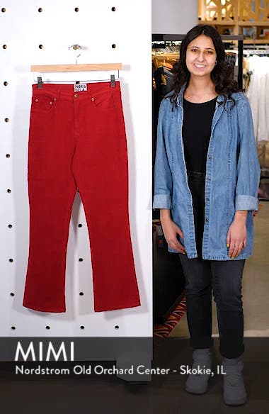 Corduroy Slim Crop Flare Pants, sales video thumbnail