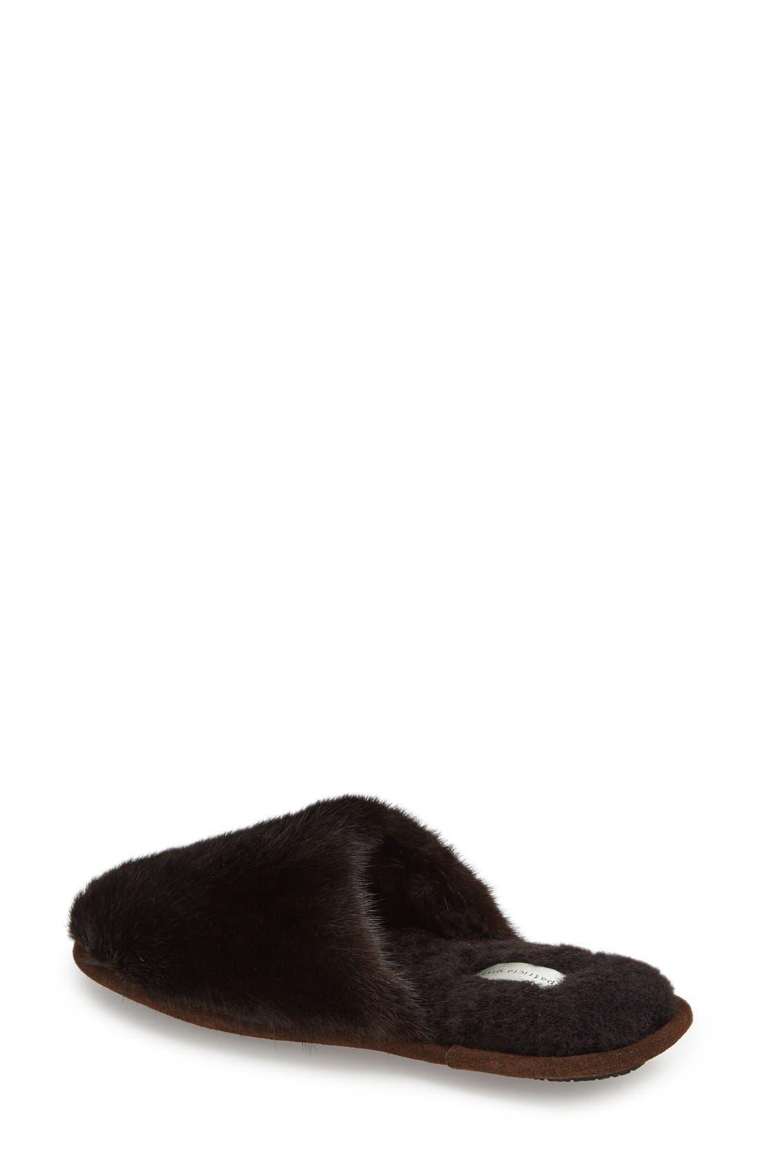 'Whistler' Genuine Mink Fur Slipper,                             Alternate thumbnail 3, color,                             215